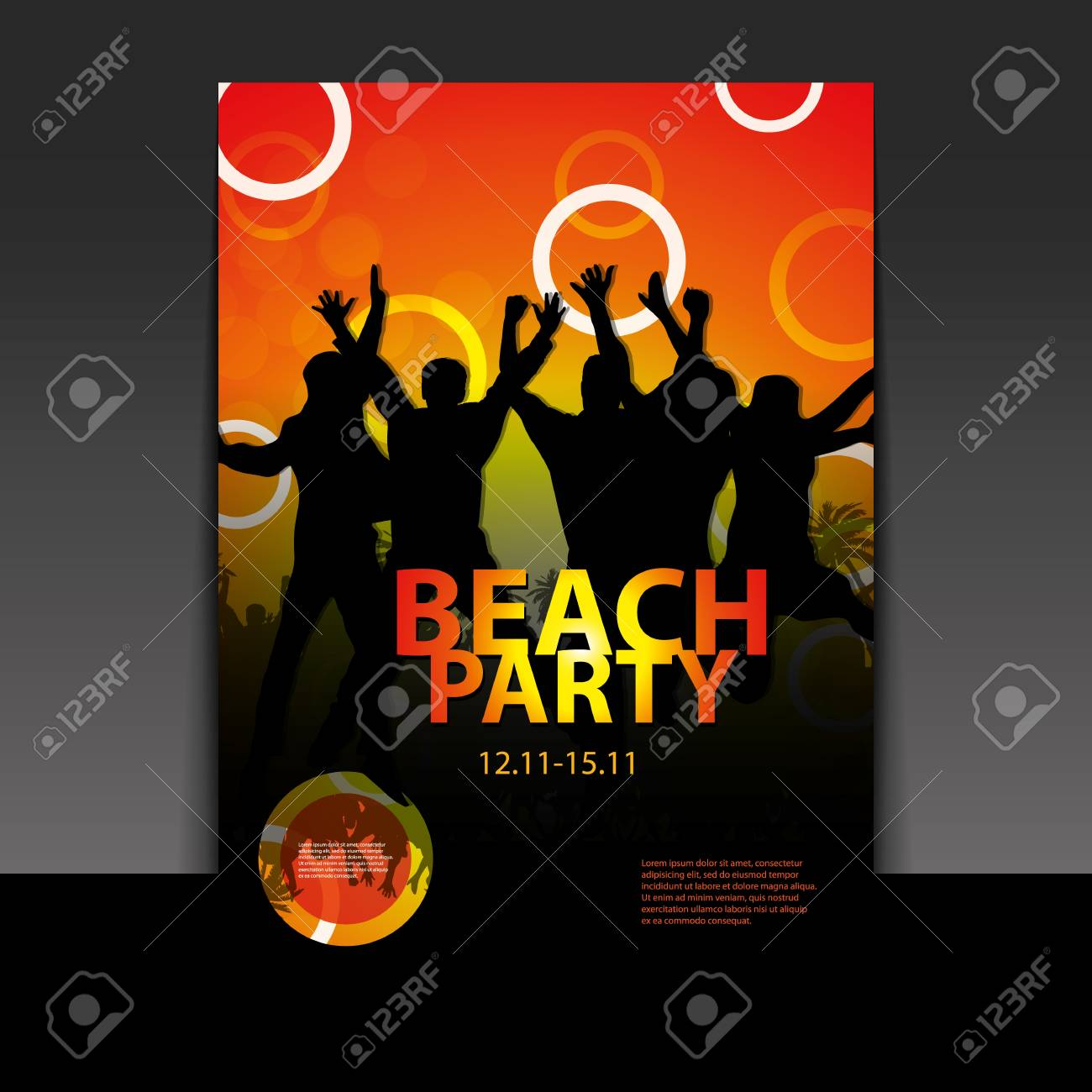 Flyer or Cover Design - Beach Party Stock Vector - 16730322