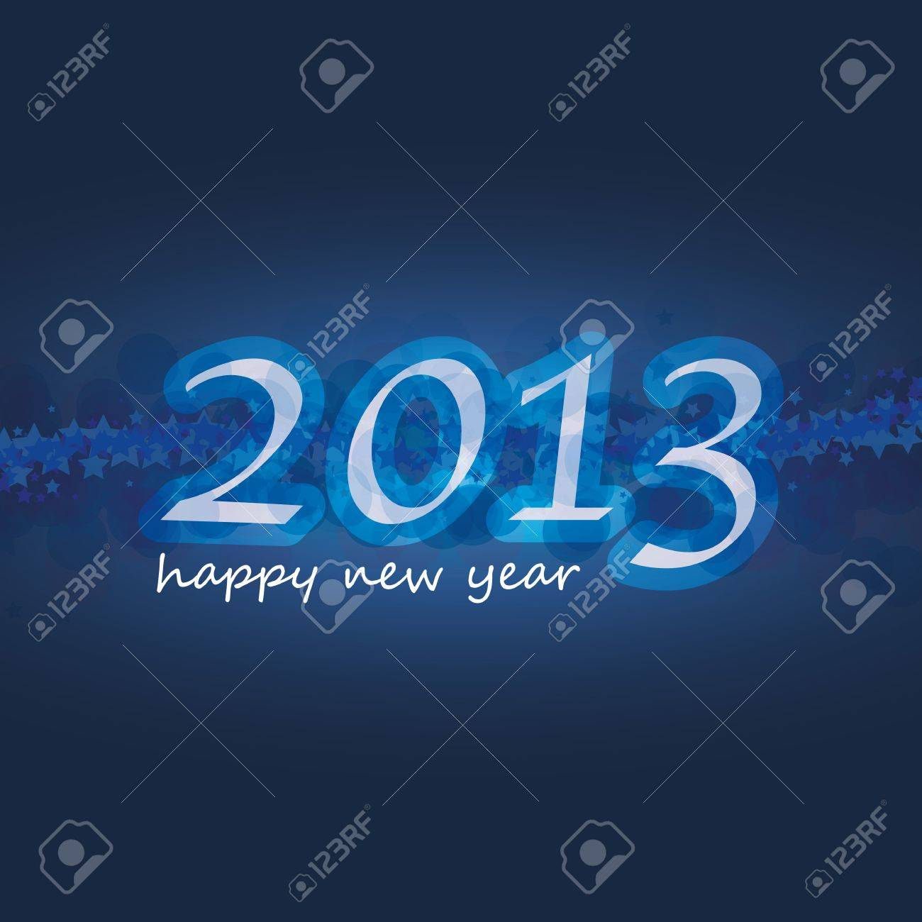 New Year Card Background Stock Vector - 16853417