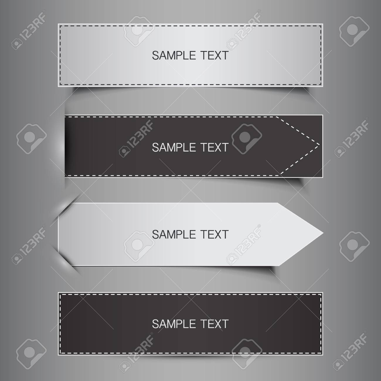 Tag, Label or Banner Designs Stock Vector - 17036232