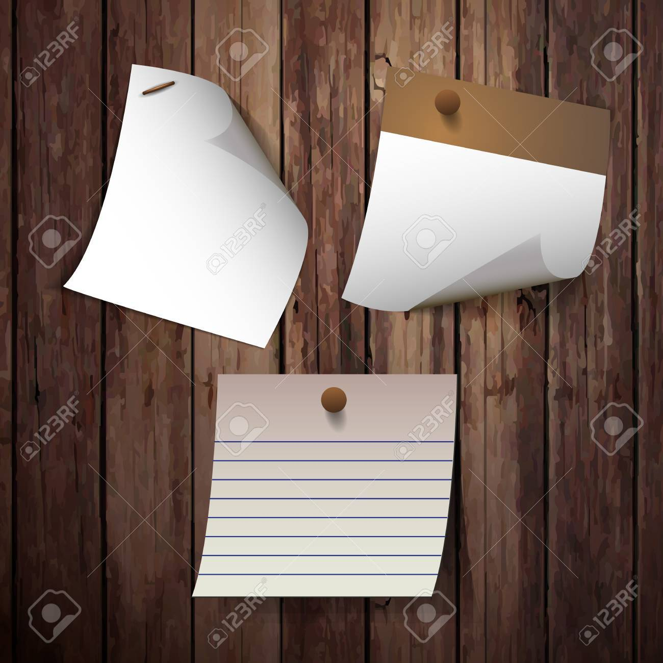 Blank note papers Stock Vector - 17538870