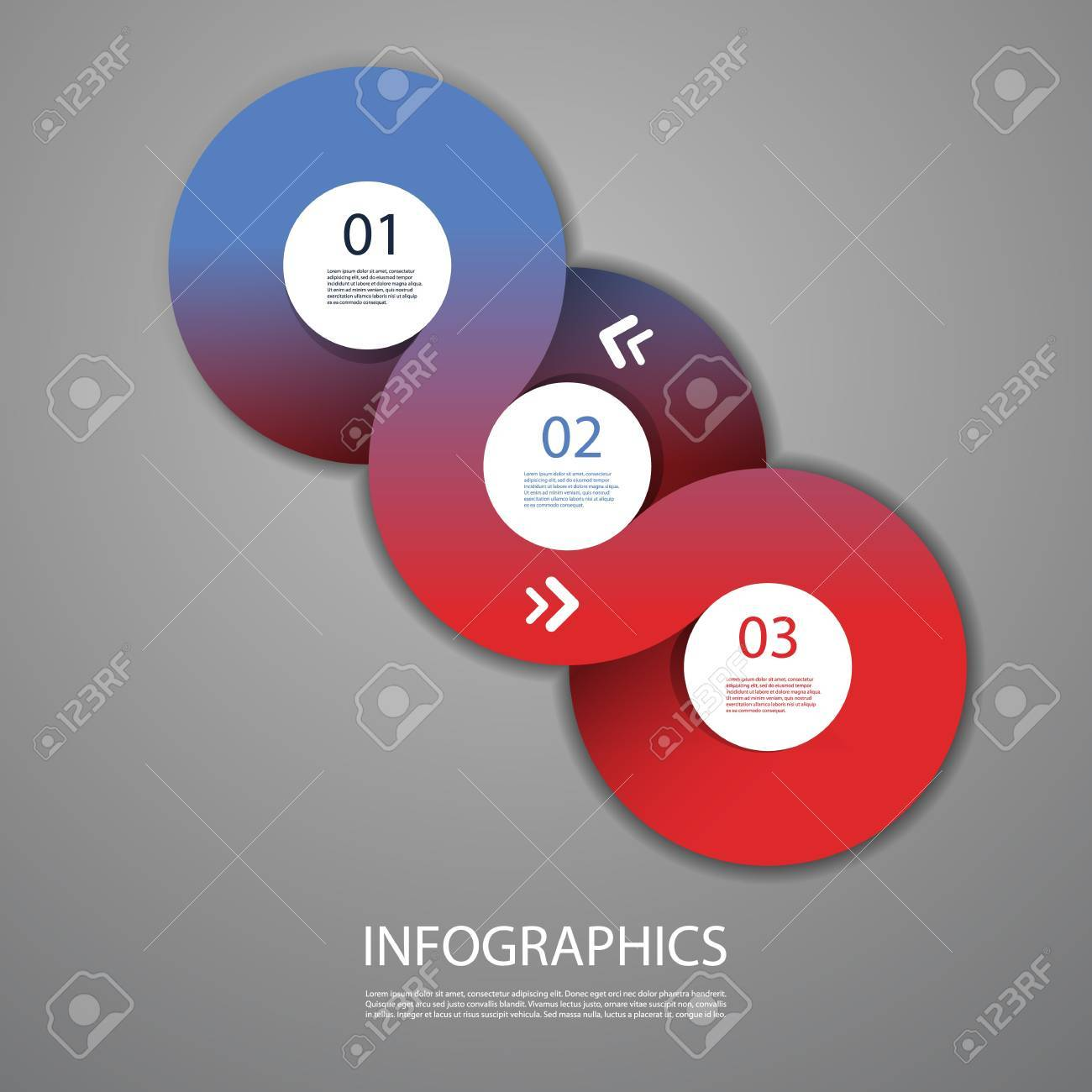 Infographics Cover - Circle Designs with Icons Stock Vector - 18128594