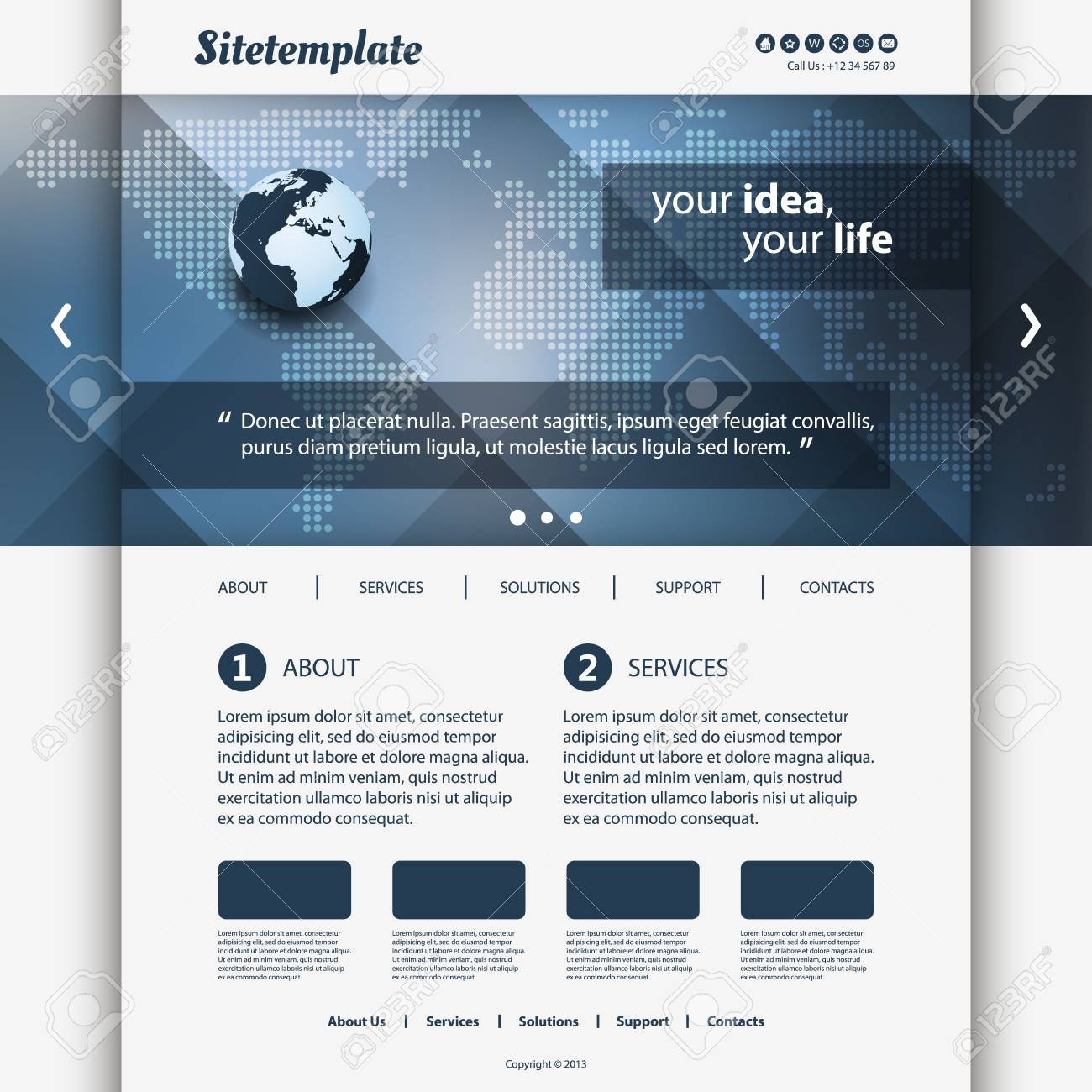 Website Template Stock Vector - 18521302