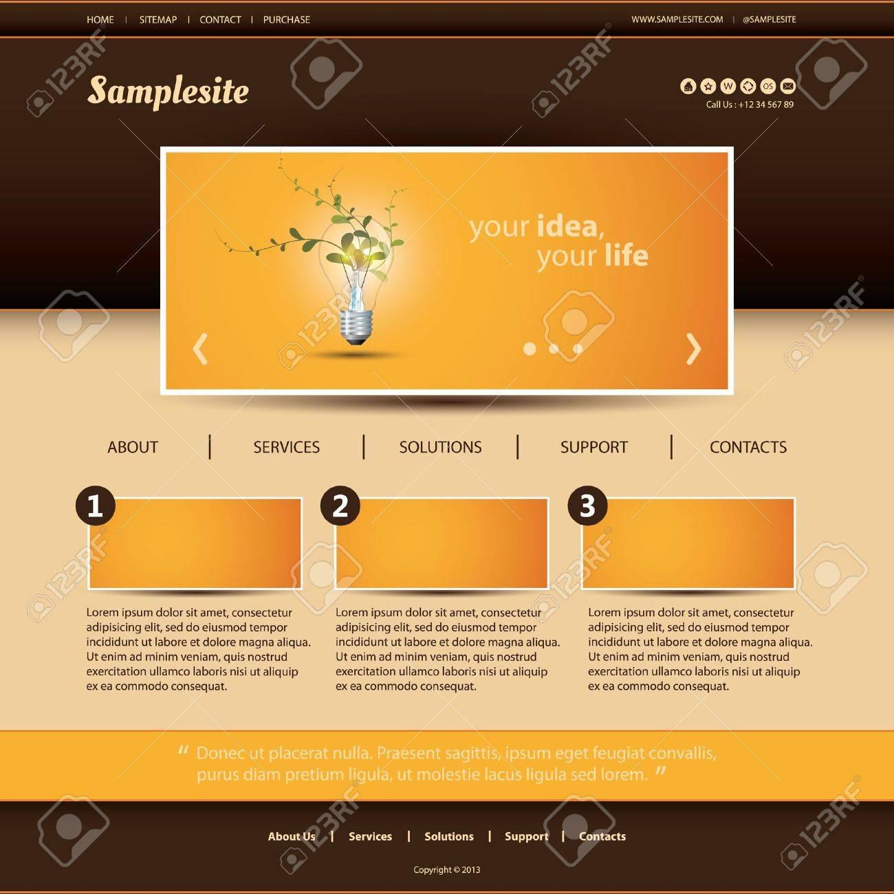 Website Template Stock Vector - 18459386