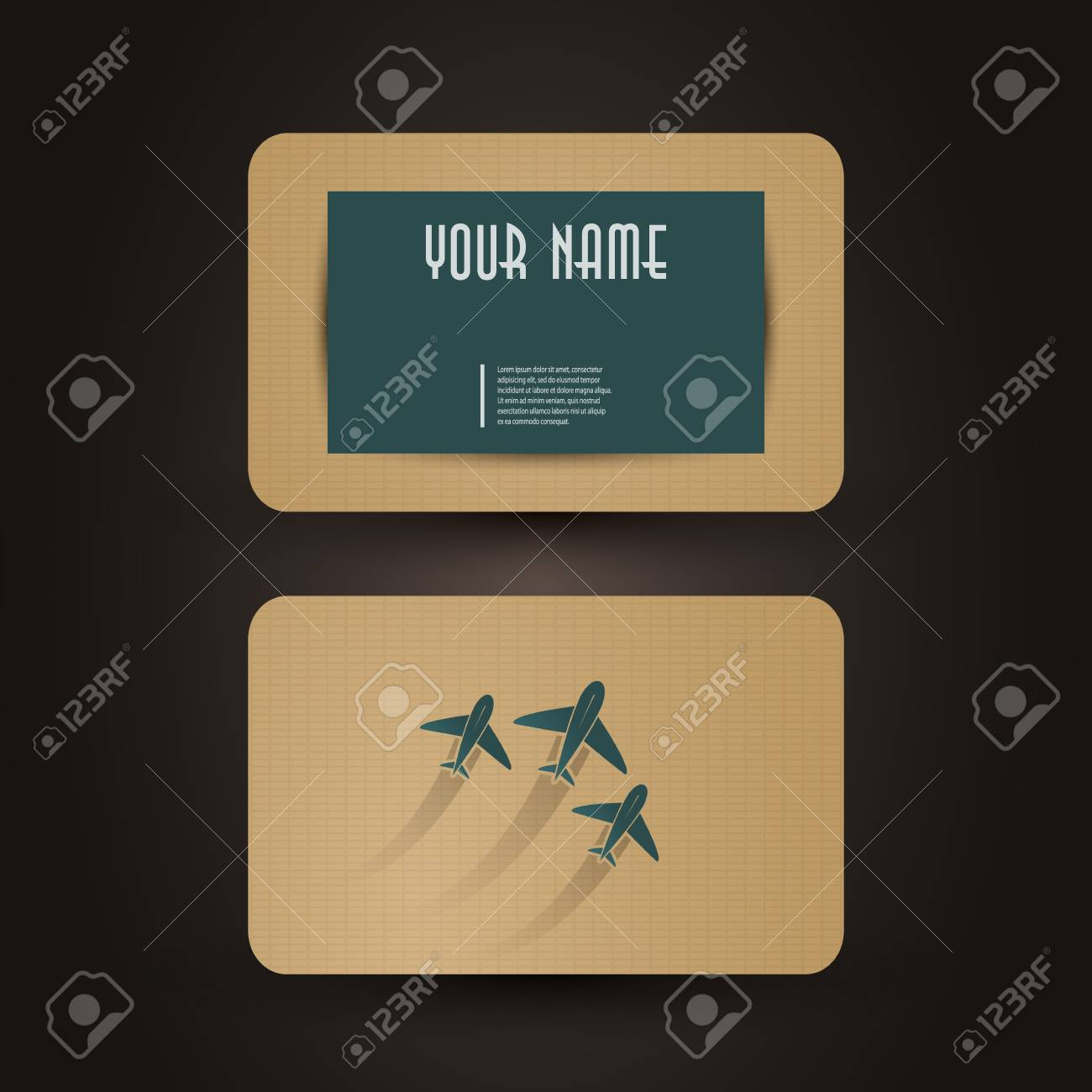 Business Card Template Stock Vector - 19982136