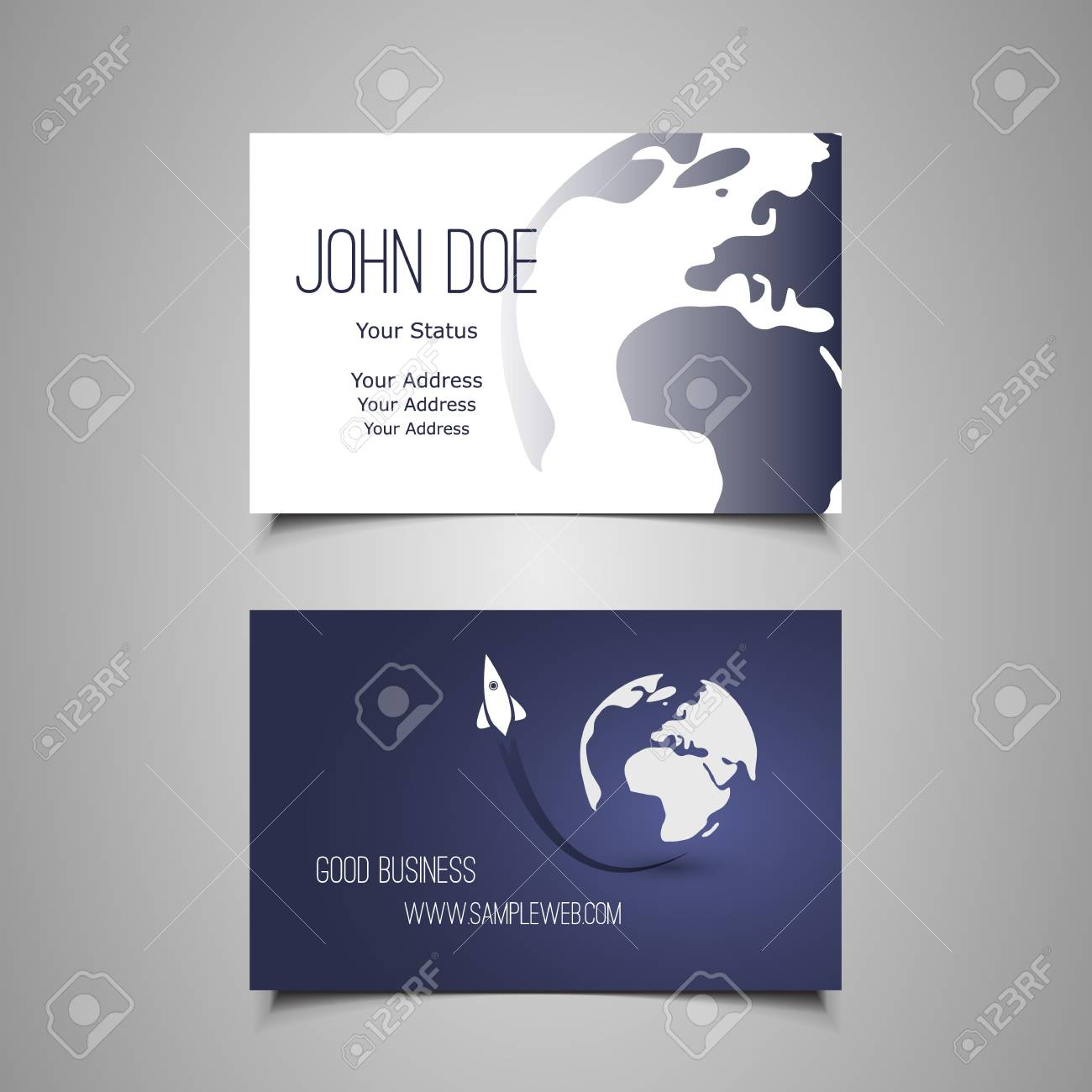 Business Card Template Stock Vector - 19721469