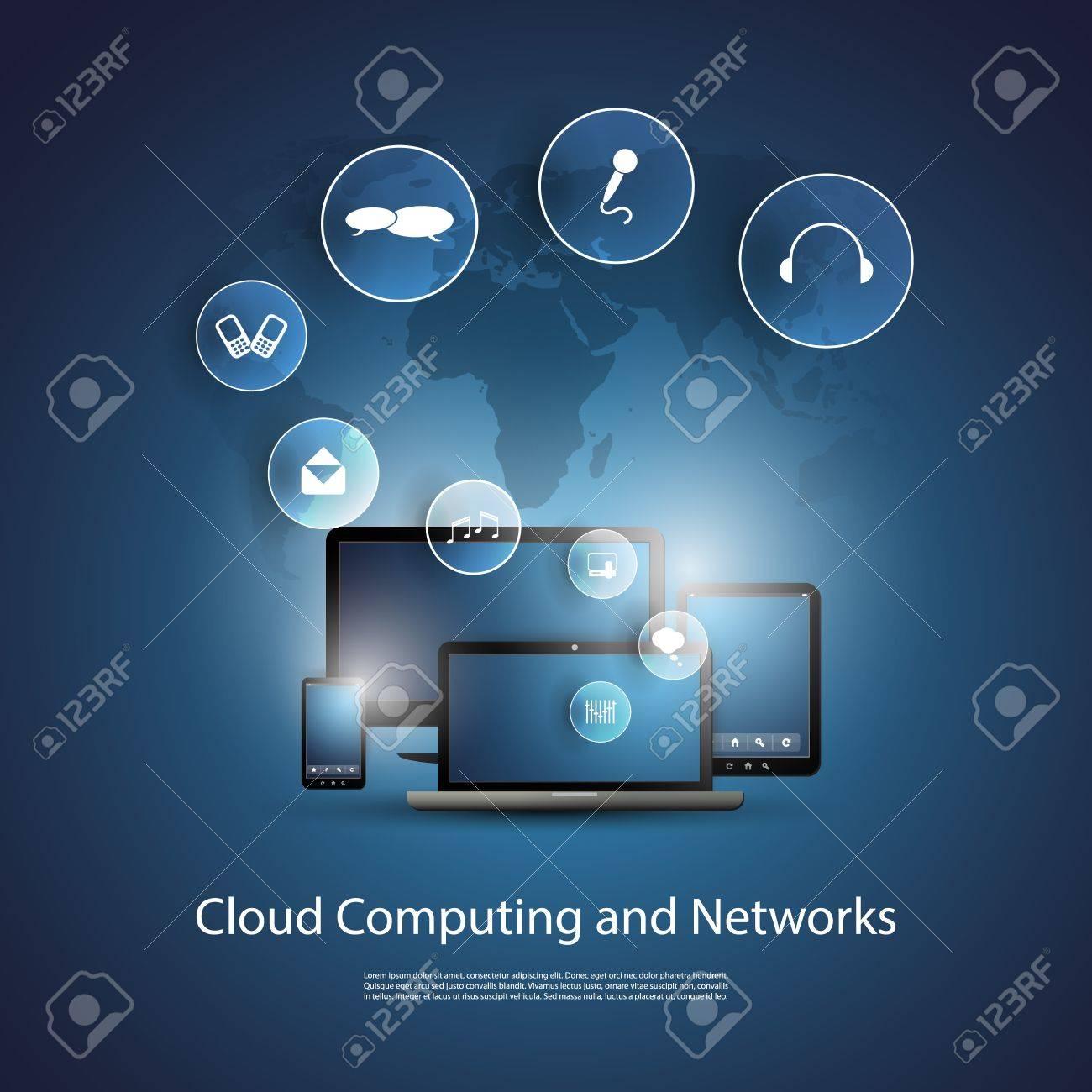 Cloud Computing Concept Stock Vector - 20046445