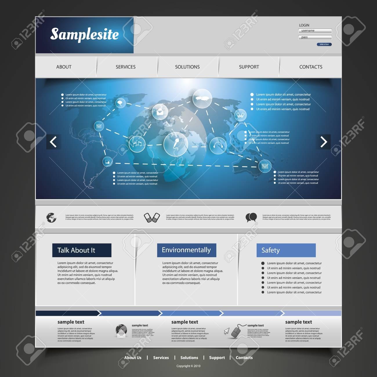Website Template Stock Vector - 20408848