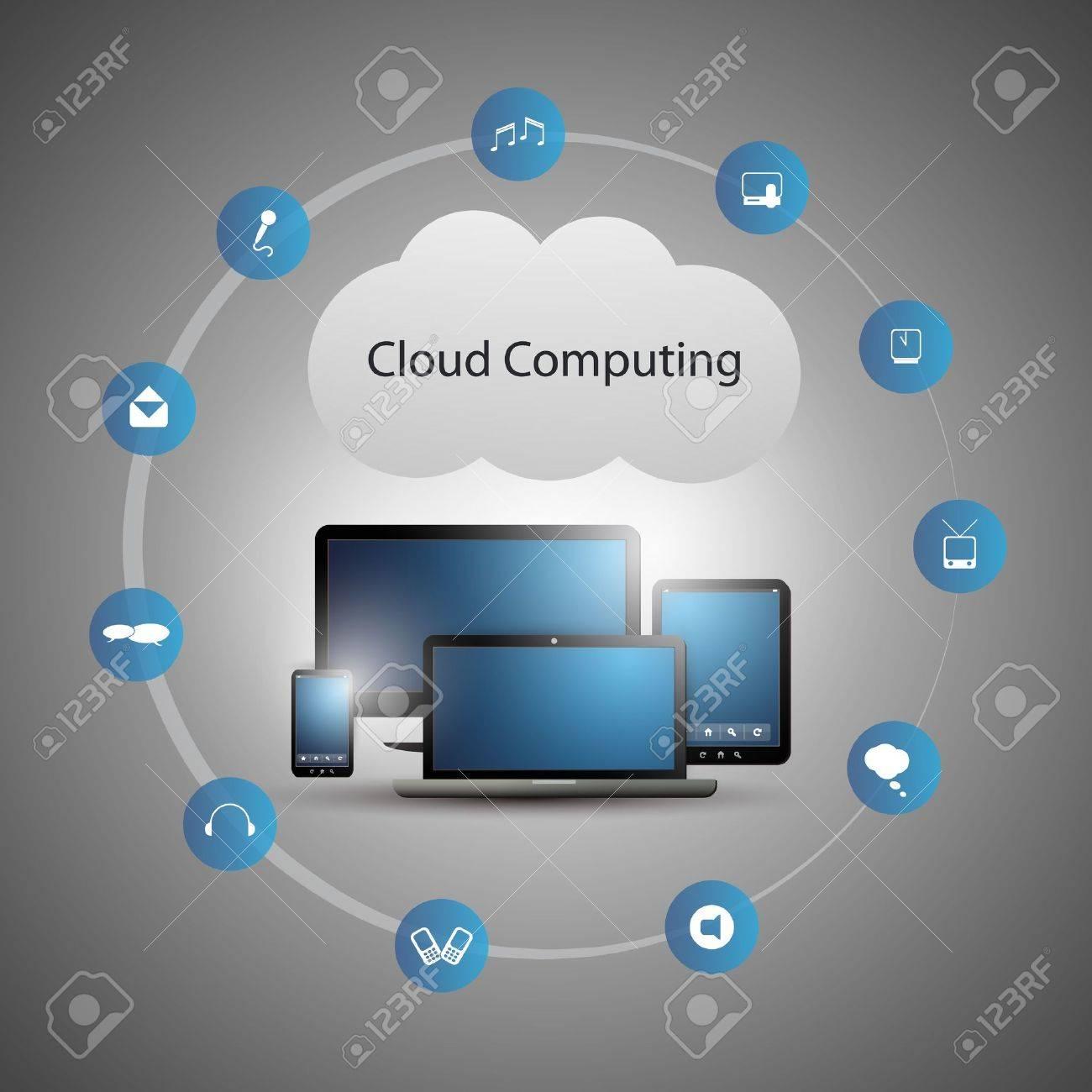 Cloud Computing Concept Stock Vector - 20666071