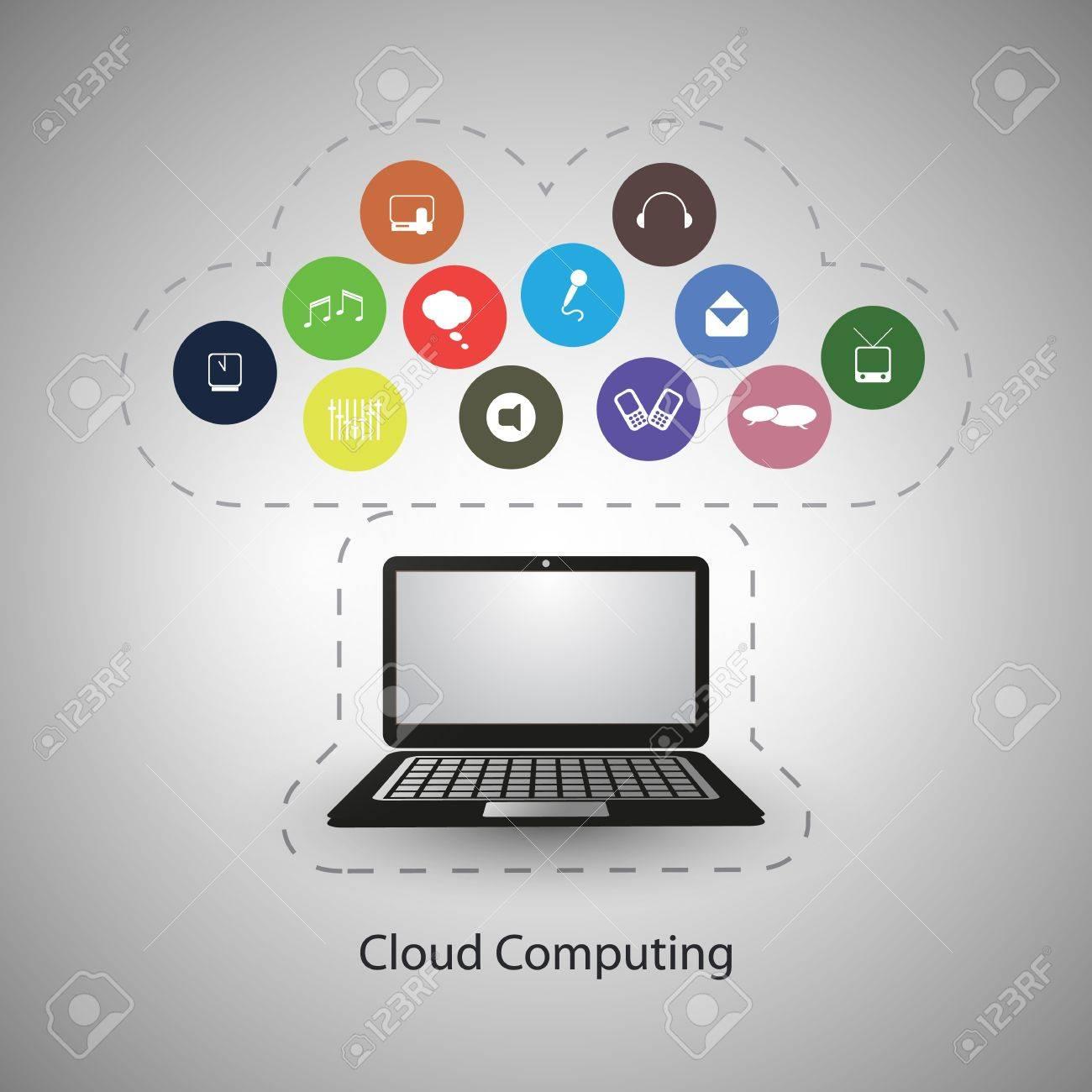 Cloud Computing Concept Stock Vector - 20881356