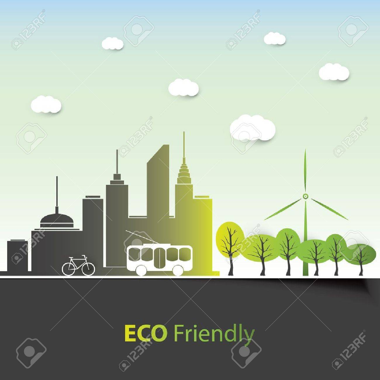 Eco Friendly - Background Design Stock Vector - 21584609