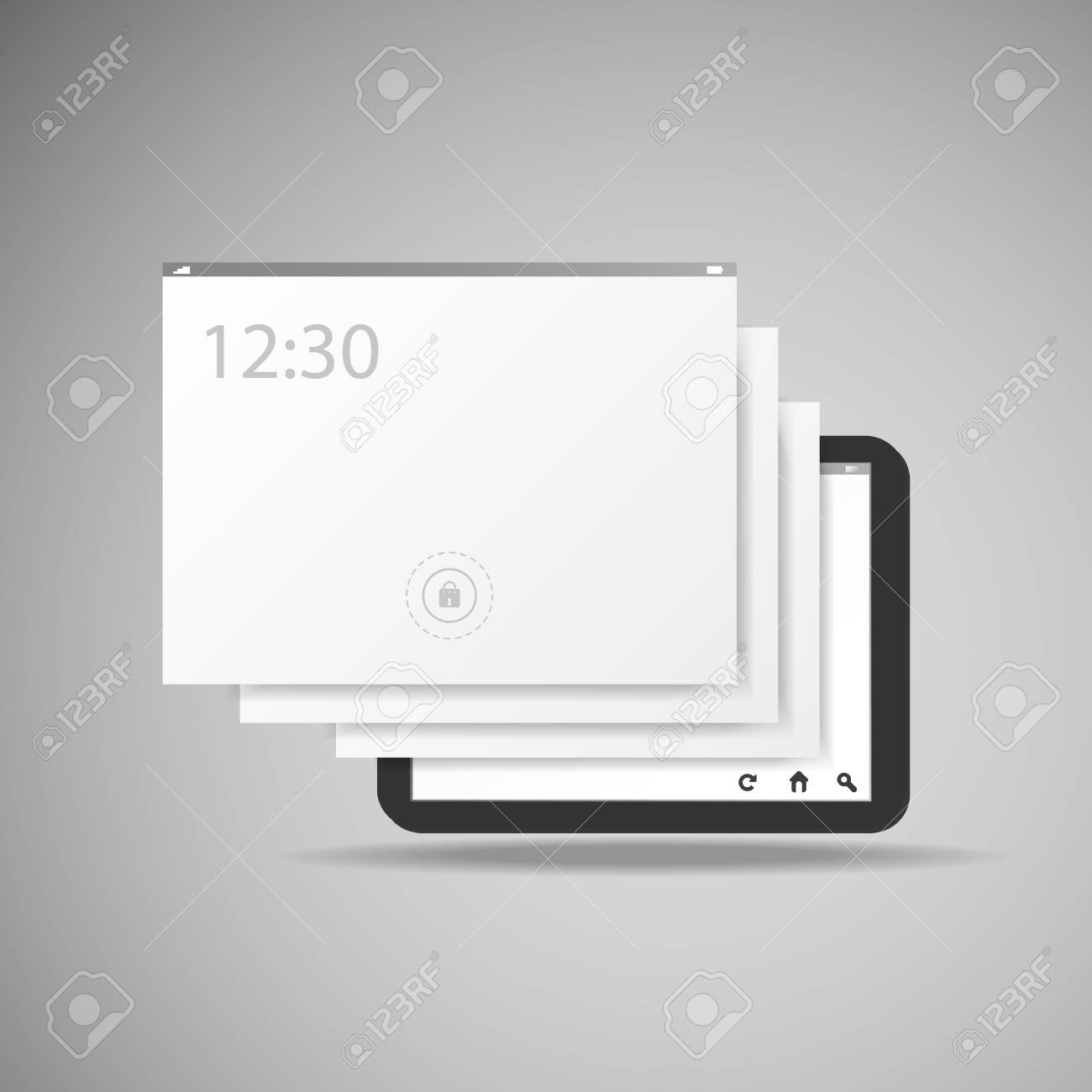 Tablet With Layers Stock Vector - 22256501