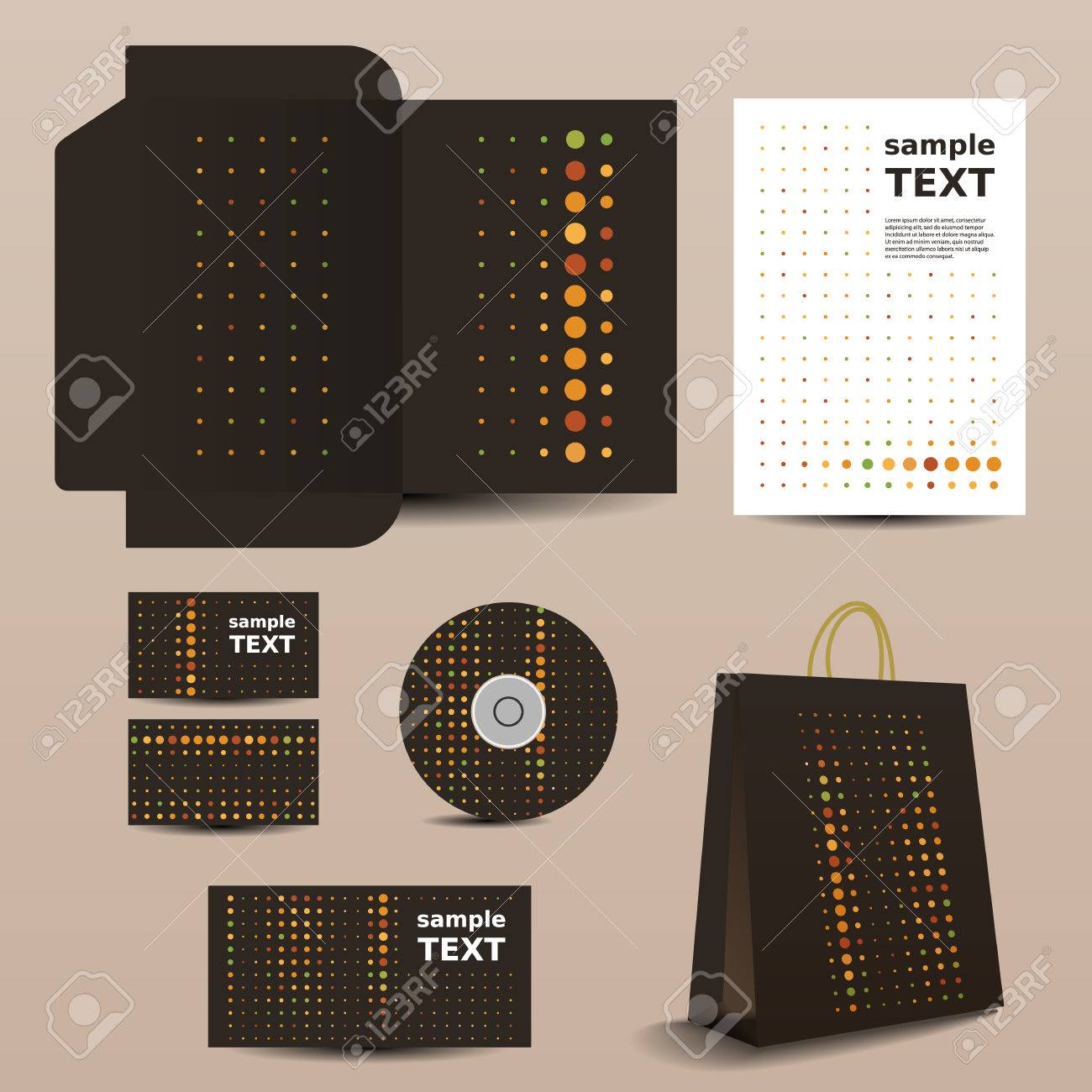 Stationery Template, Corporate Image Design Stock Vector - 25253042