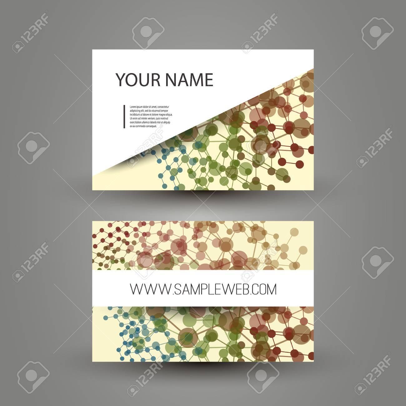 Cartes De Visite Avec Fond Colore Resume Pointille Clip Art Libres