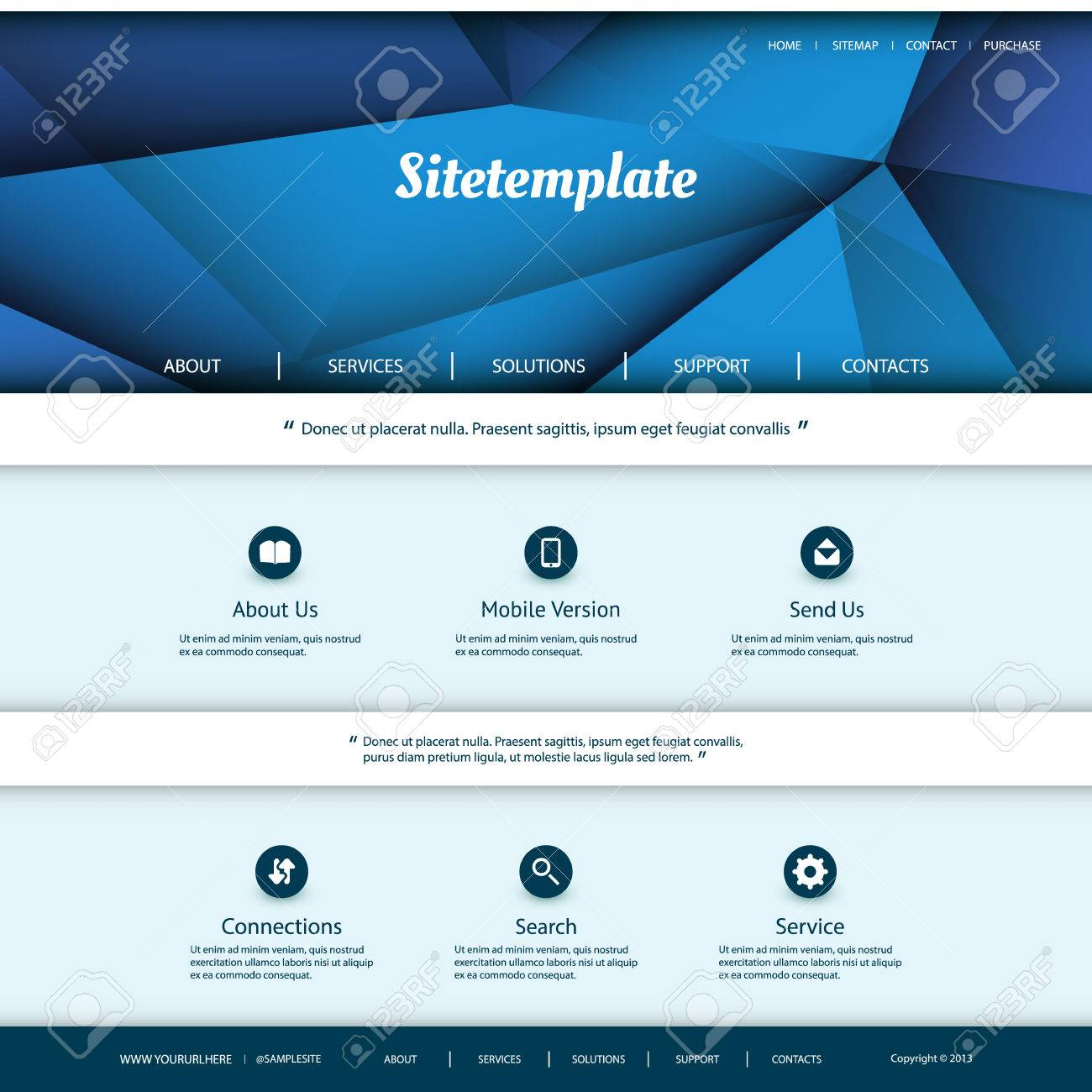 website template with abstract header design royalty free cliparts