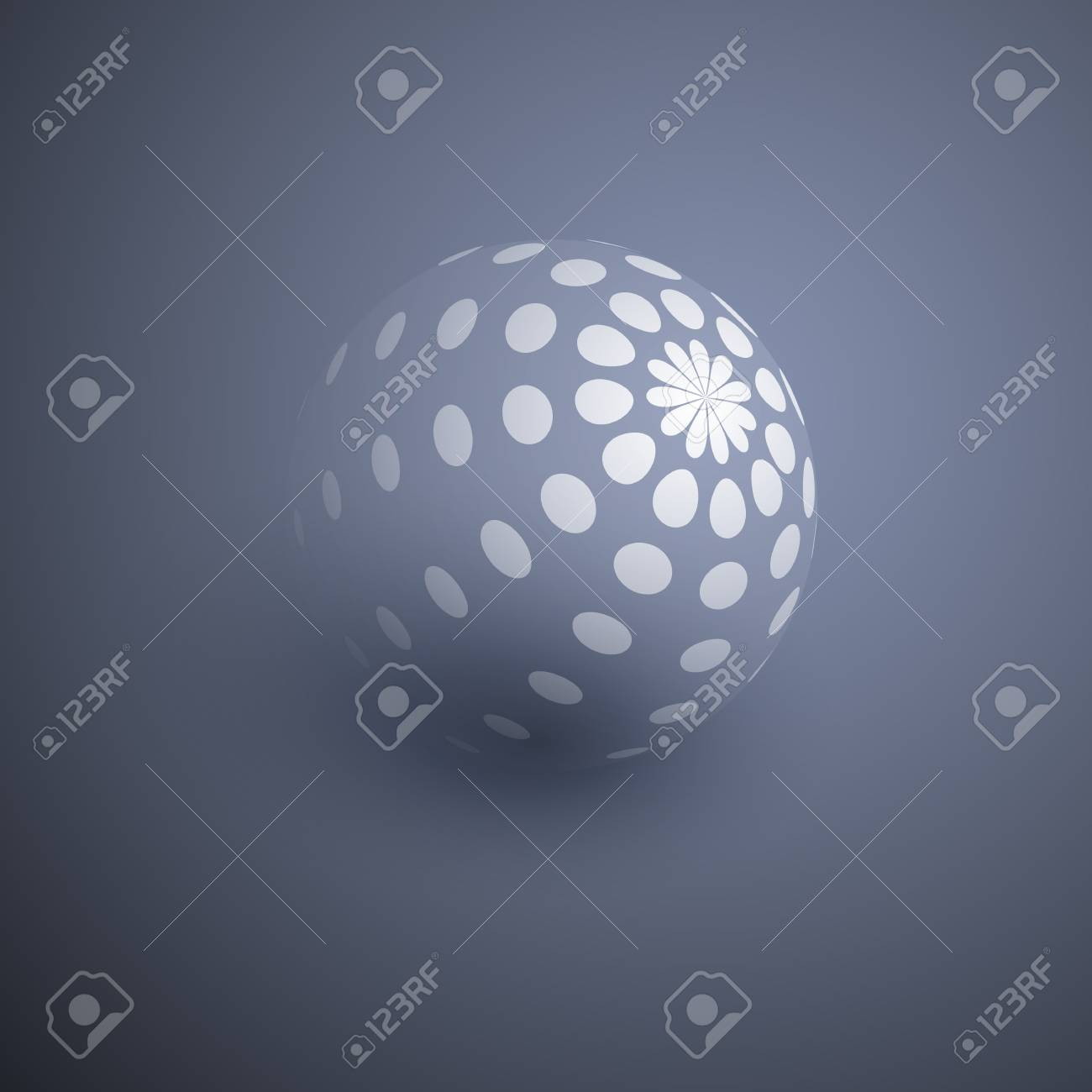 Globe Design with Dotted Surface - 27874176