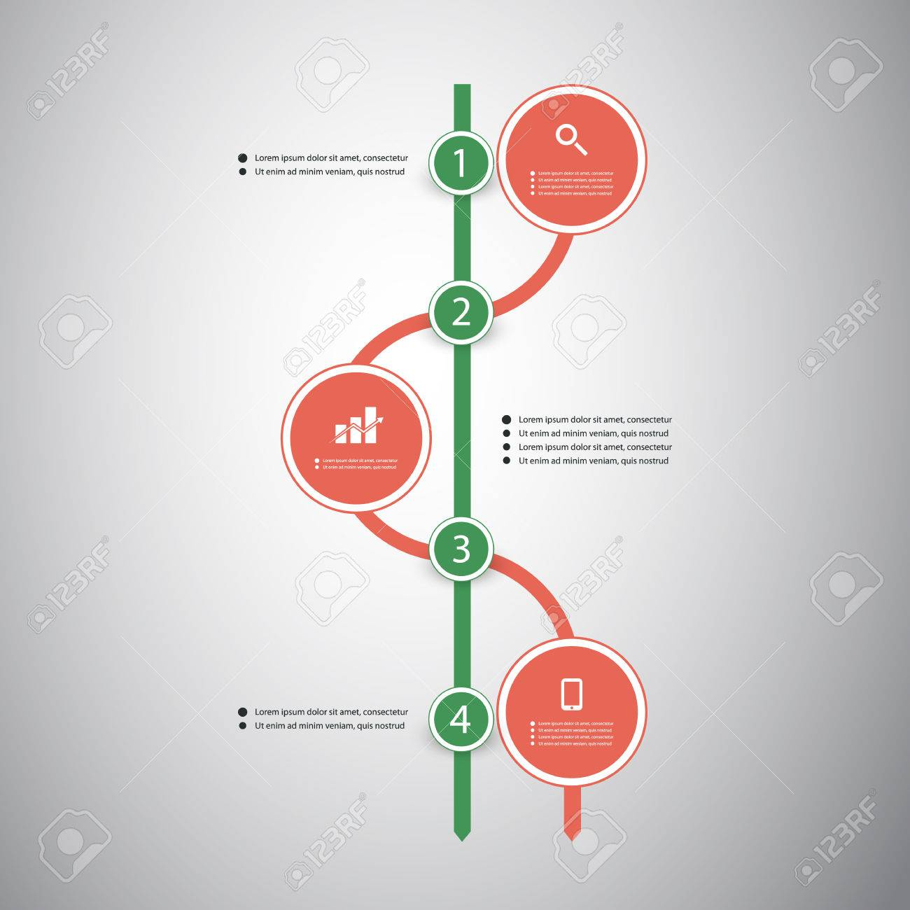 Infographic Concept - Flow Chart Design - Timeline Royalty Free ...