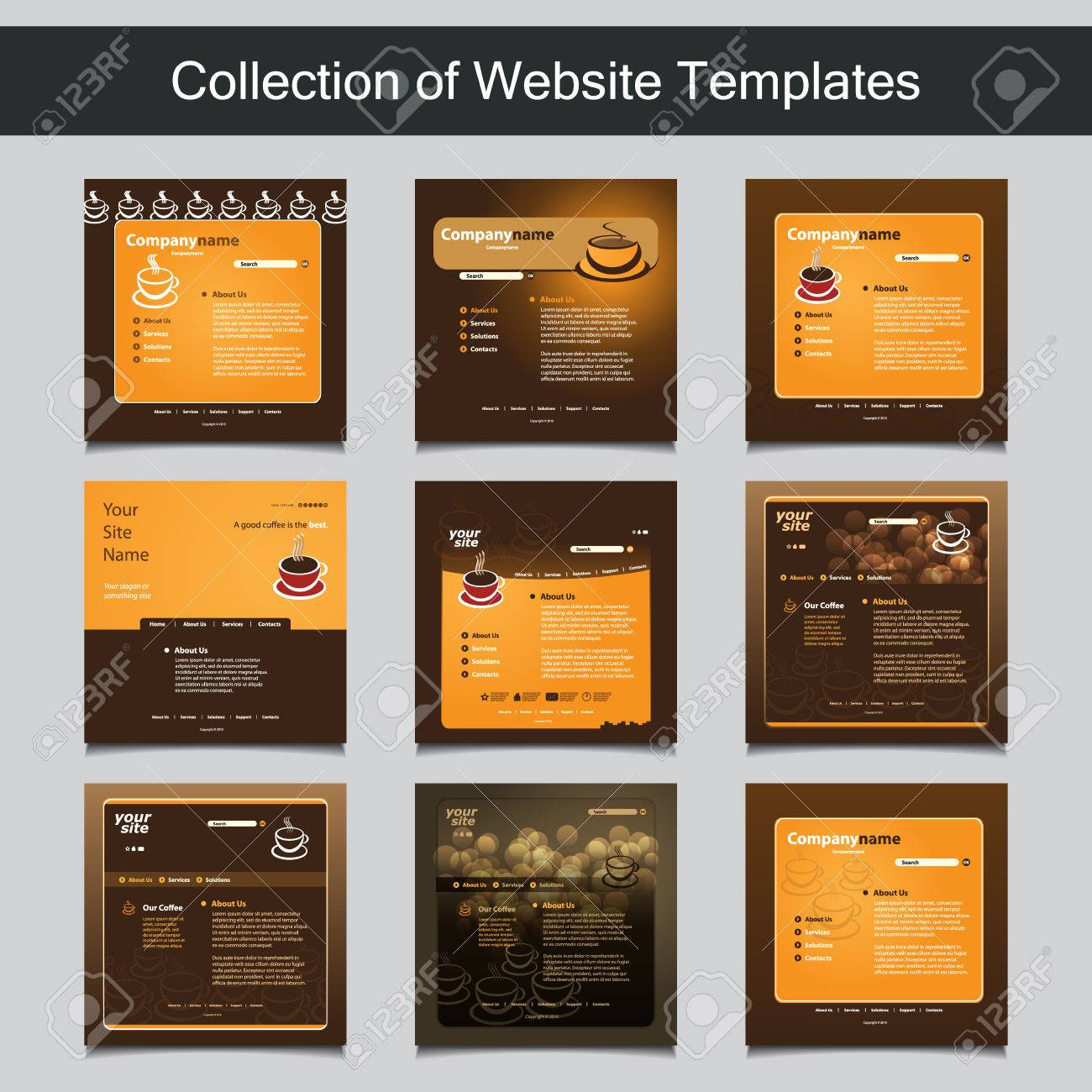 Collection of website templates for your business nine nice collection of website templates for your business nine nice and simple design templates with different wajeb Images