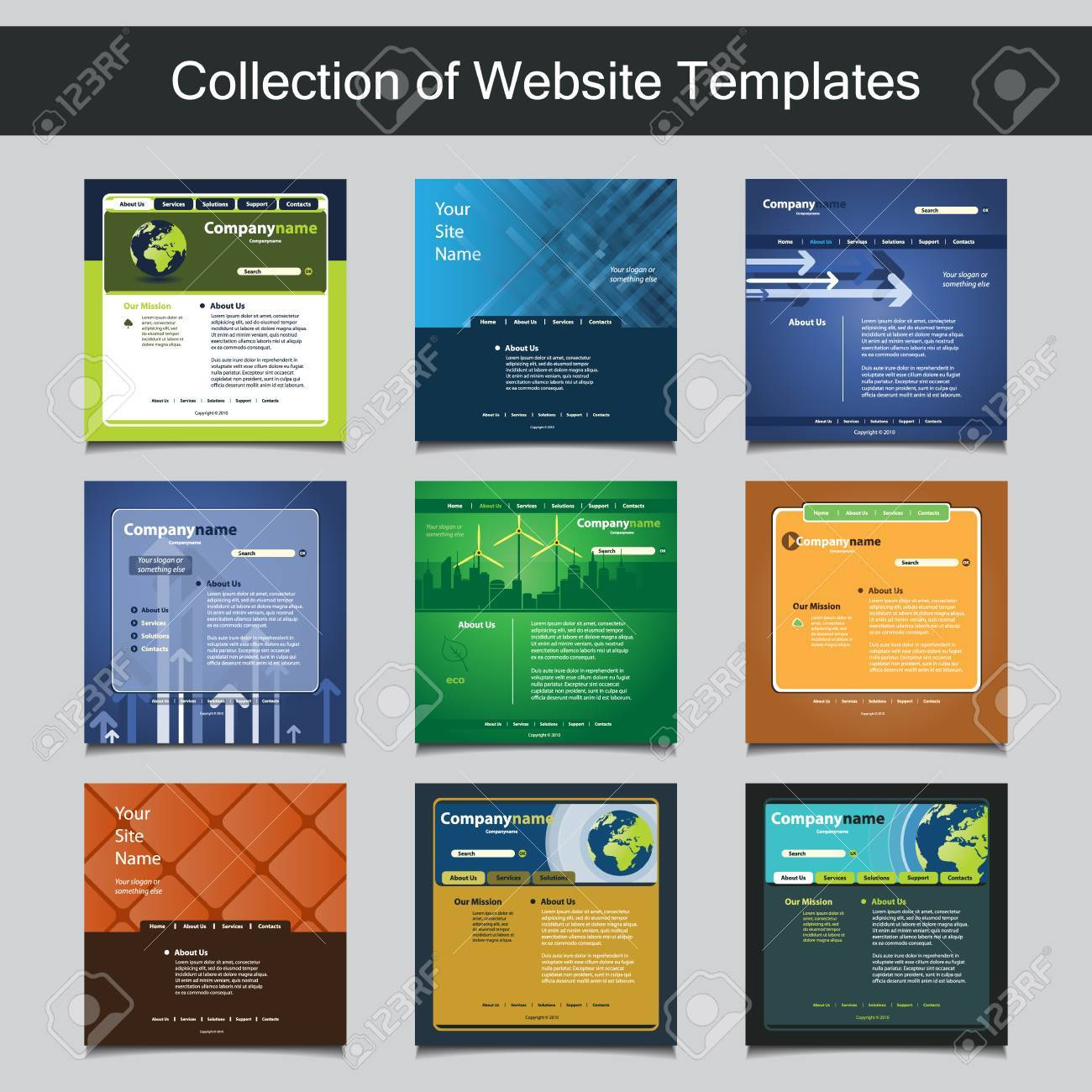 Collection Of Website Templates For Your Business - Nine Nice ...