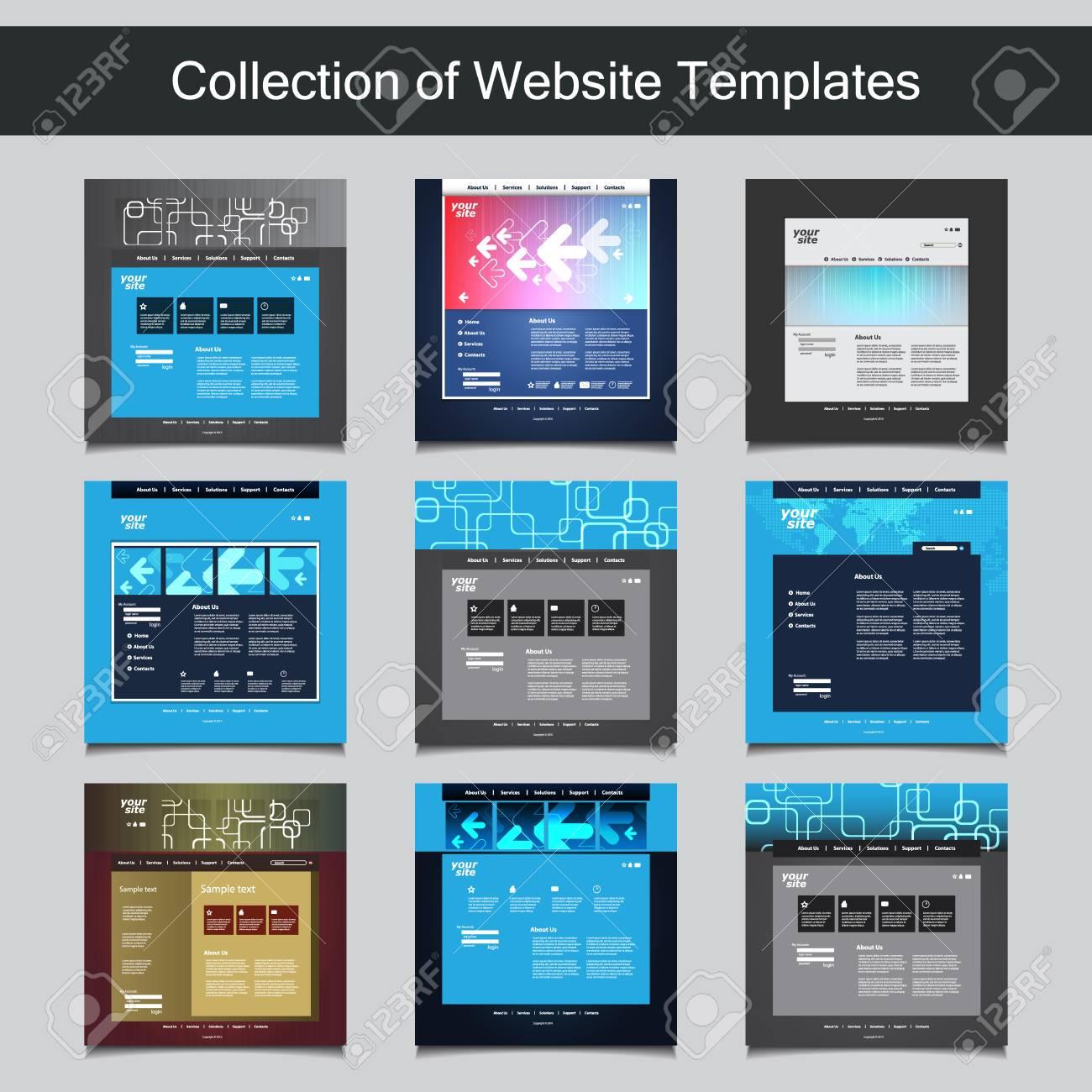 Colección De Plantillas De Sitio Web Para Su Negocio - Nueve ...