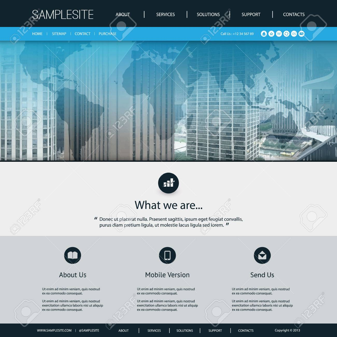 Website design template for your business with city skyline and vector website design template for your business with city skyline and world map background gumiabroncs Choice Image
