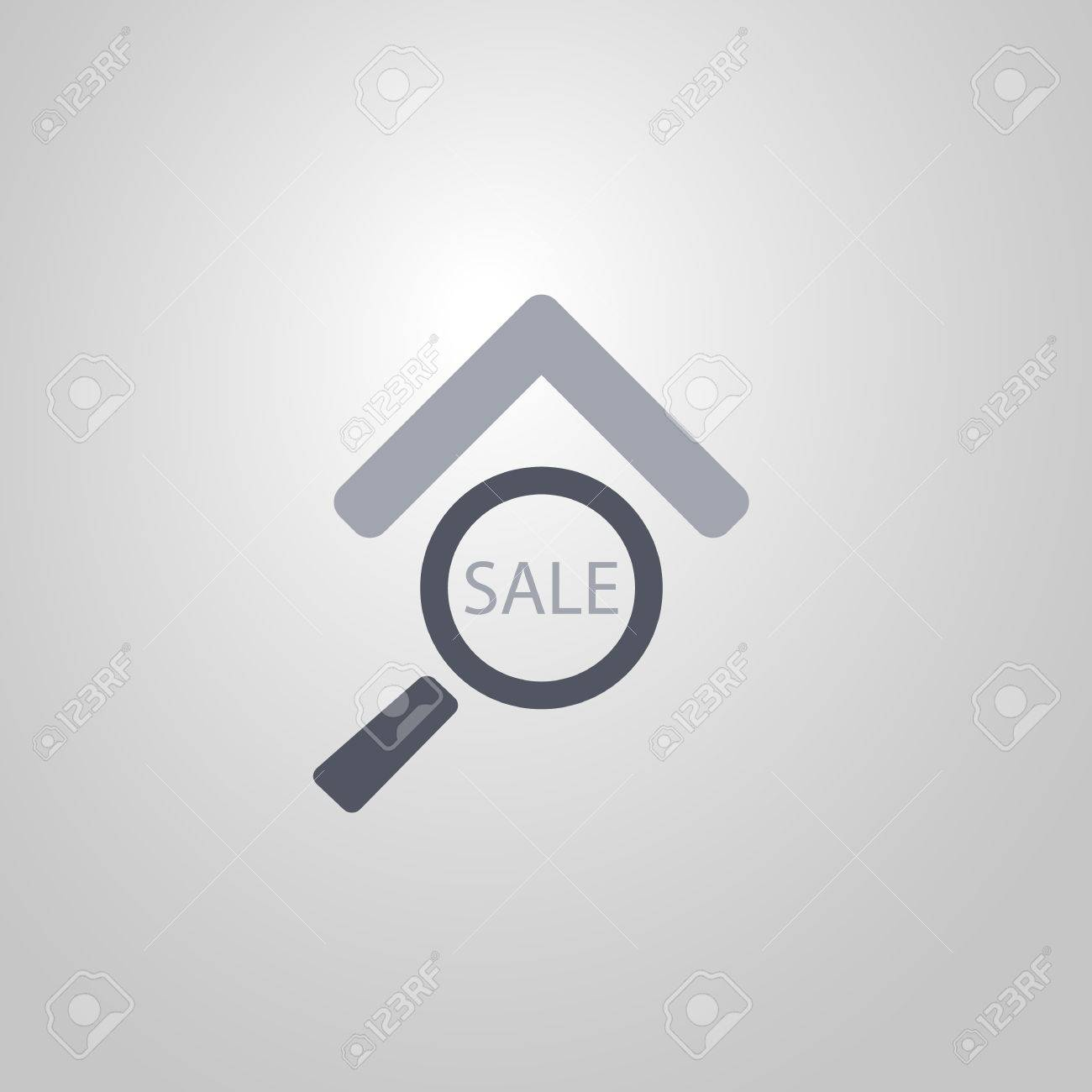 Real estate icon design looking for a house for sale flat symbol real estate icon design looking for a house for sale flat symbol banco de imagens biocorpaavc Choice Image