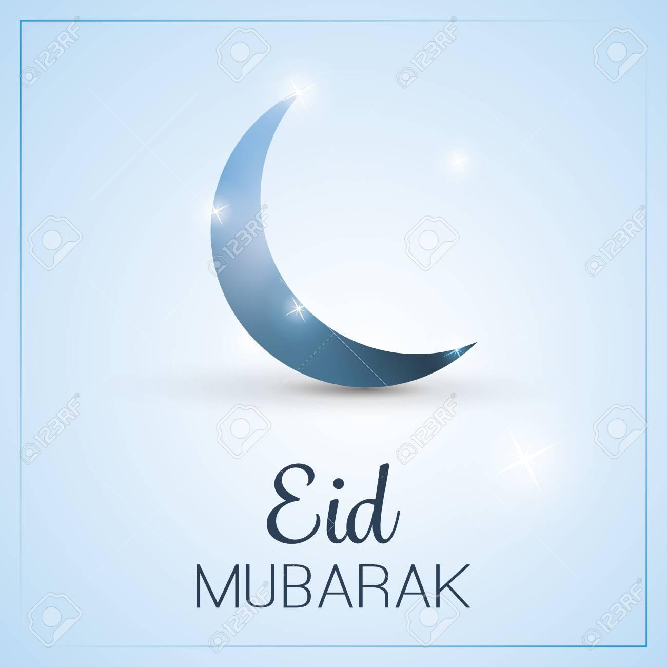Eid Mubarak Moon In The Sky Greeting Card For Muslim Community