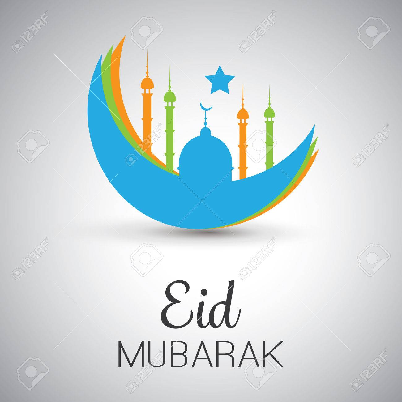 Eid mubarak moon in the sky greeting card for muslim community eid mubarak moon in the sky greeting card for muslim community festival stock vector m4hsunfo
