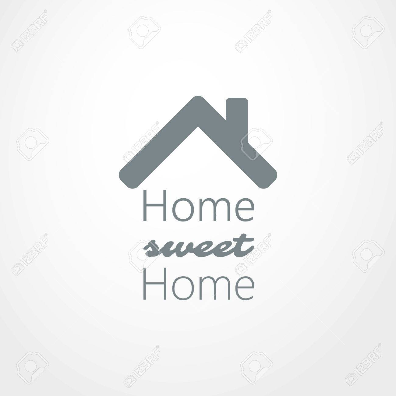 Home, Sweet Home - House Roof Icon Design Royalty Free Cliparts ...