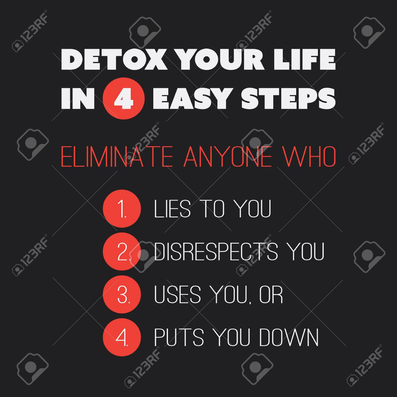 Inspirational Quote Detox Your Life In 4 Easy Steps Eliminate