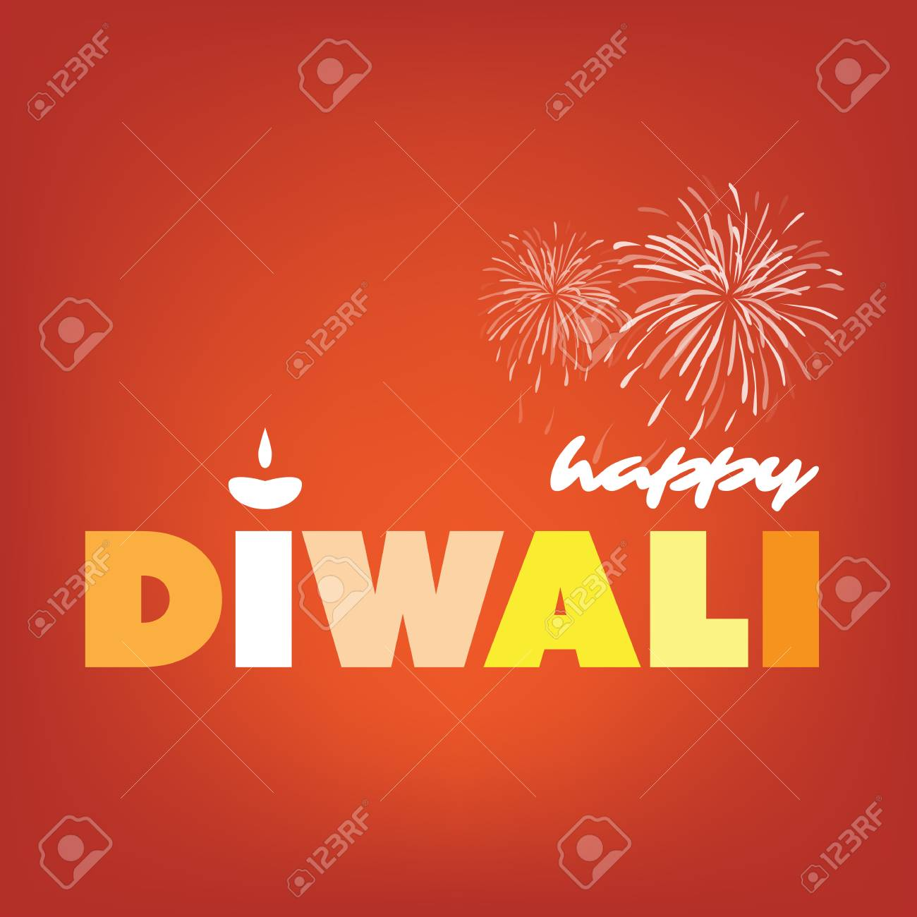 happy diwali card abstract greeting card or background creative design template stock vector