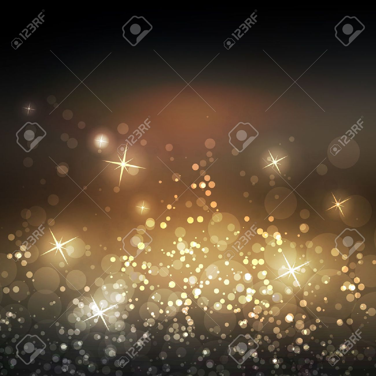 Sparkling Cover Design Template with Abstract Blurred Background - 46337383
