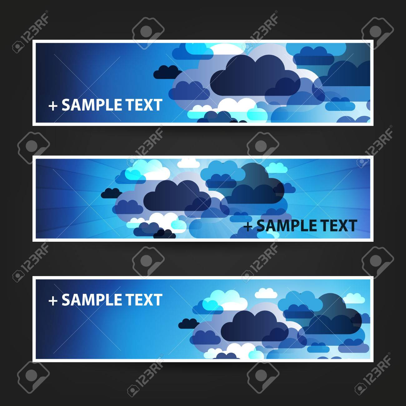 set of horizontal banner background designs ad templates colors set of horizontal banner background designs ad templates colors blue white