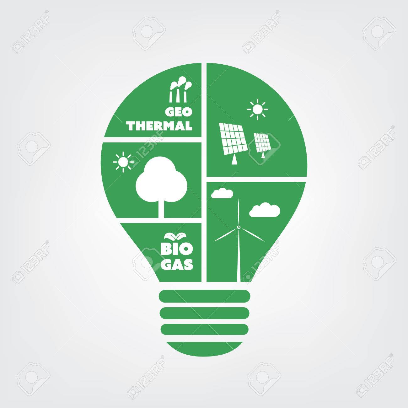 Think Green   Eco Friendly Ideas In A Light Bulb   Symbol, Background  Concept Design