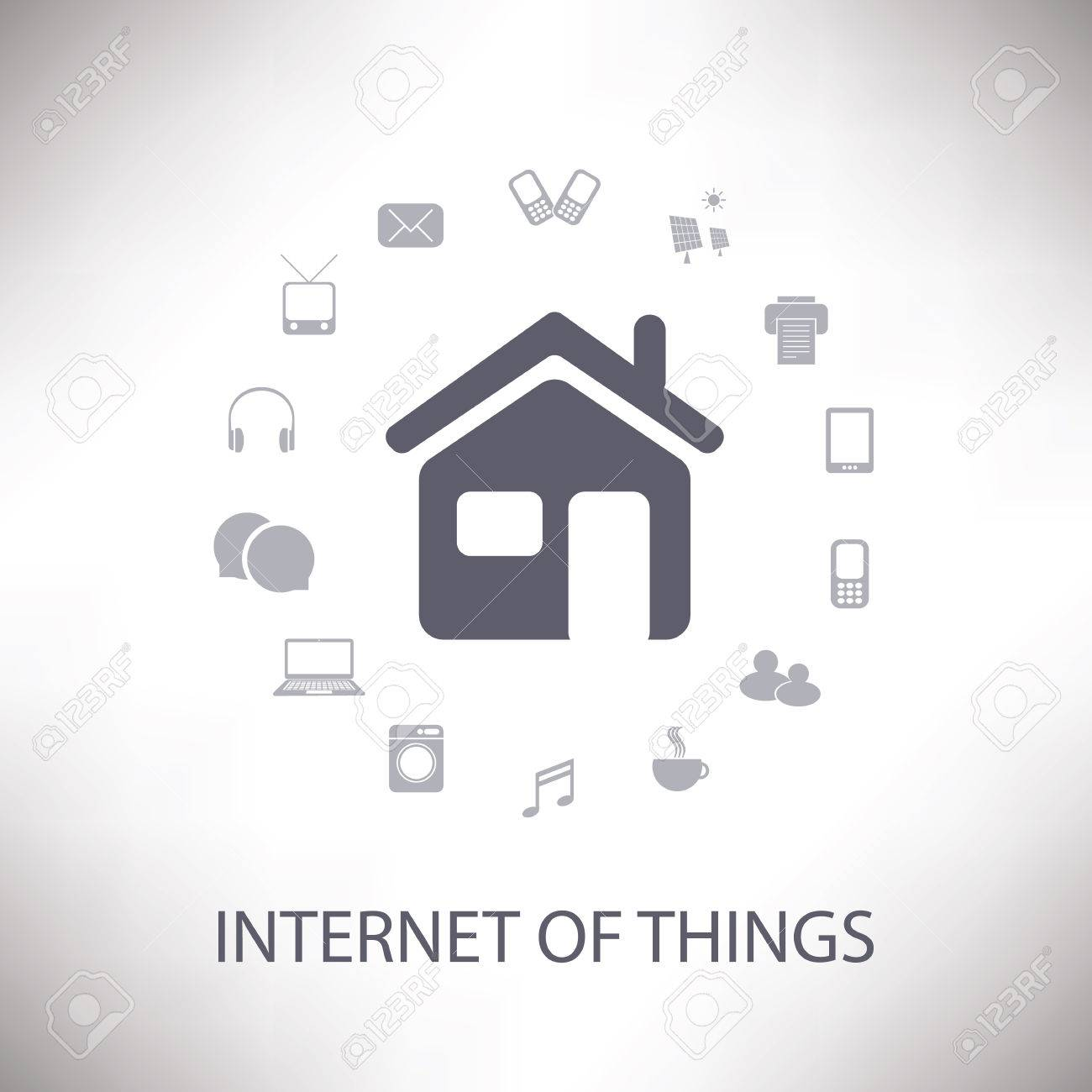 Internet Of Things, Digital Home And Networks Design Concept ...