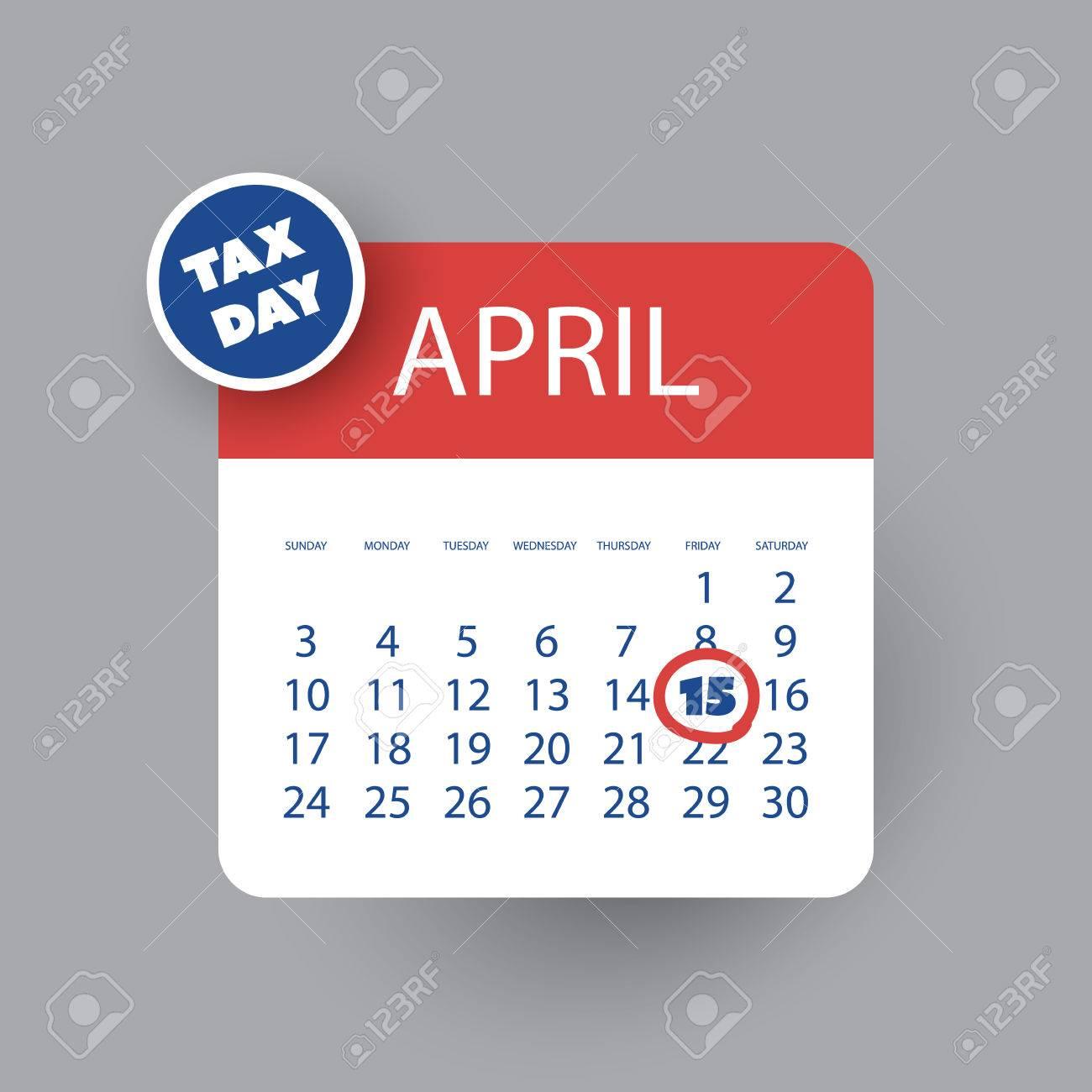 EE.UU. Fiscal Icono Día - Plantilla De Diseño Calendario ...