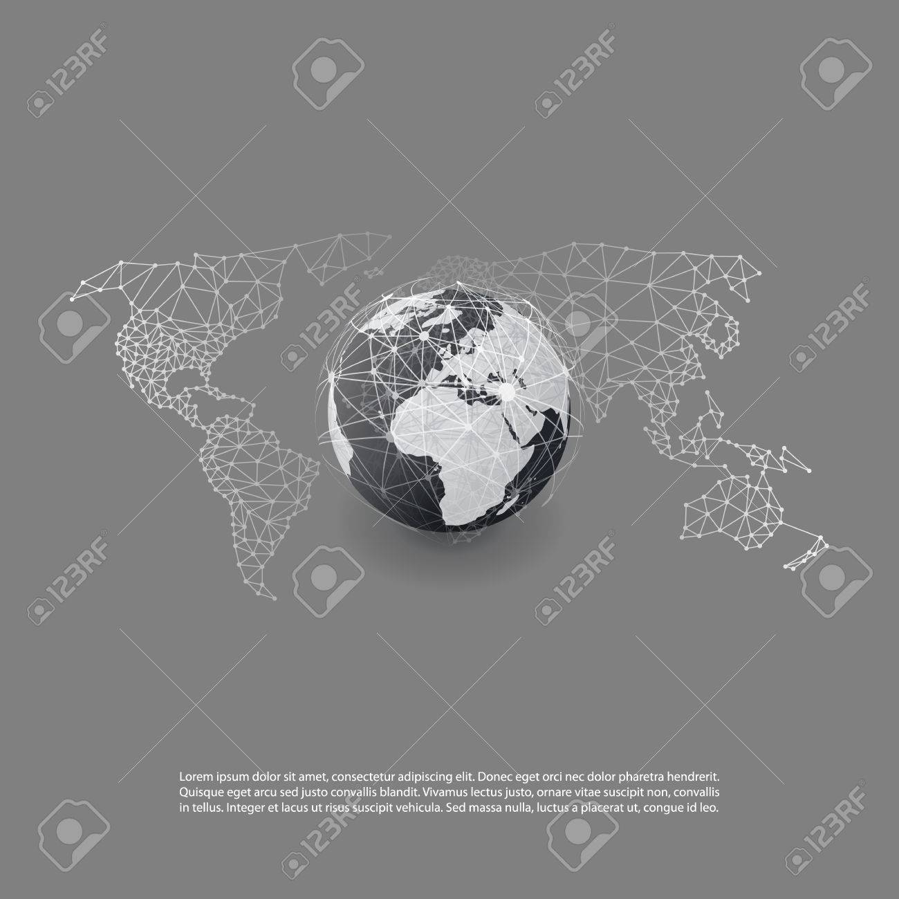 Cloud computing and global networks world map abstract global cloud computing and global networks world map abstract global digital network connections technology gumiabroncs Image collections
