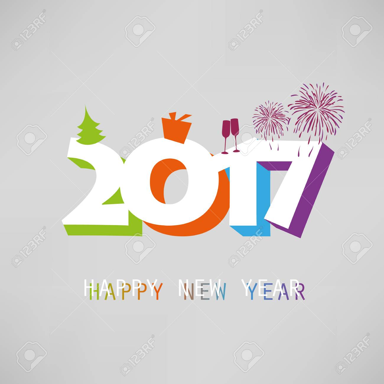 best wishes simple colorful new year card cover or background design template with holiday