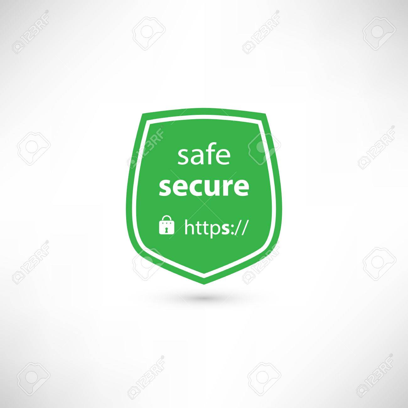 Secure Website Certificate Badge Royalty Free Cliparts Vectors And