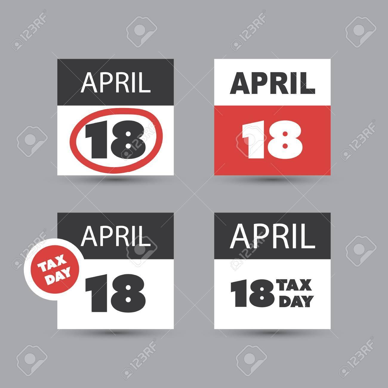Conjunto De Iconos De Día De Impuestos De EE.UU. - Plantillas De ...