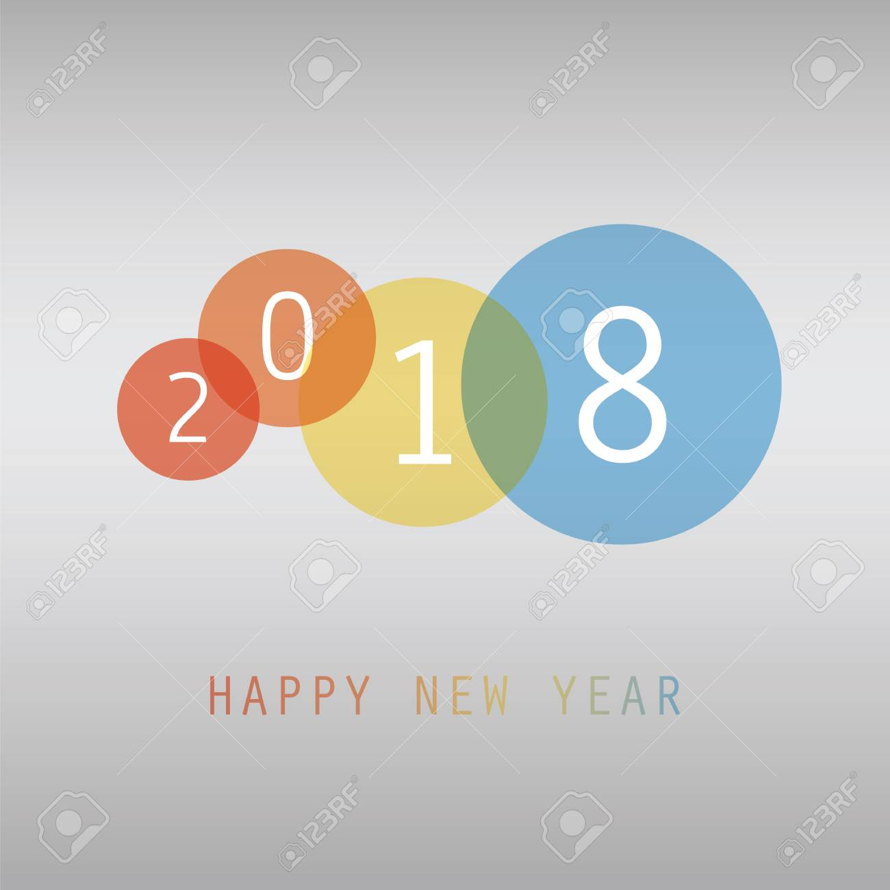 best wishes simple colorful new year card cover or background design template 2018