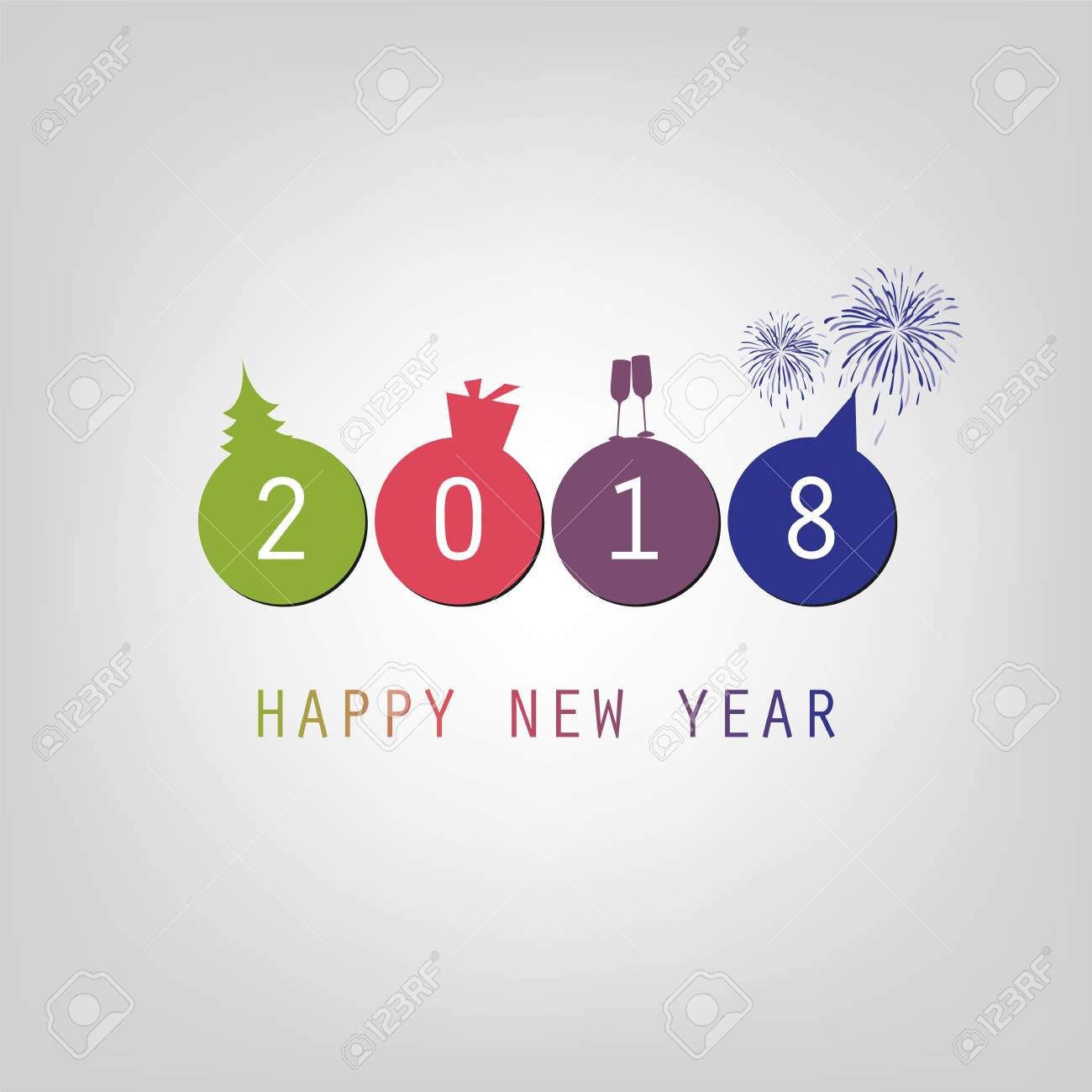 modern simple minimal happy new year card background template stock vector 87516607