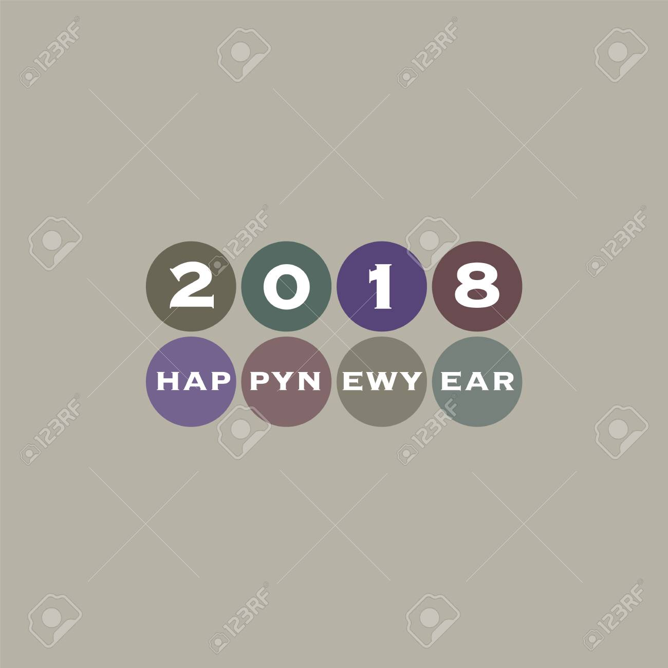 best wishes modern simple minimal happy new year card or cover background stock vector
