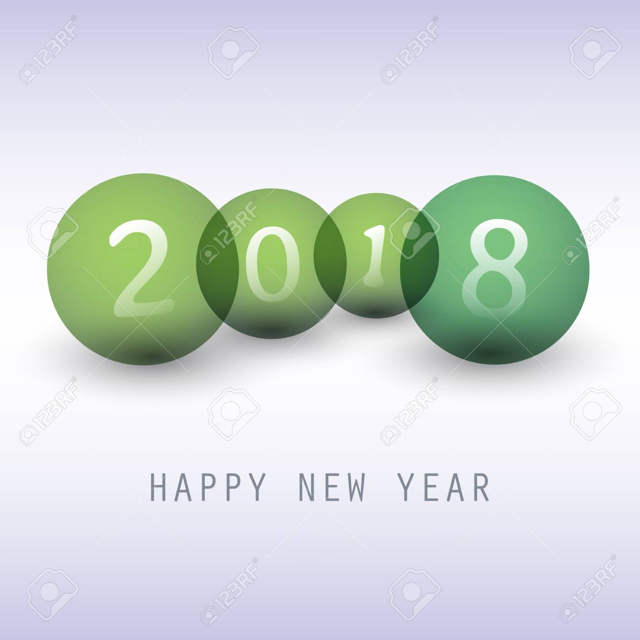 Best Wishes - Green Abstract Modern Style Happy New Year Greeting ...