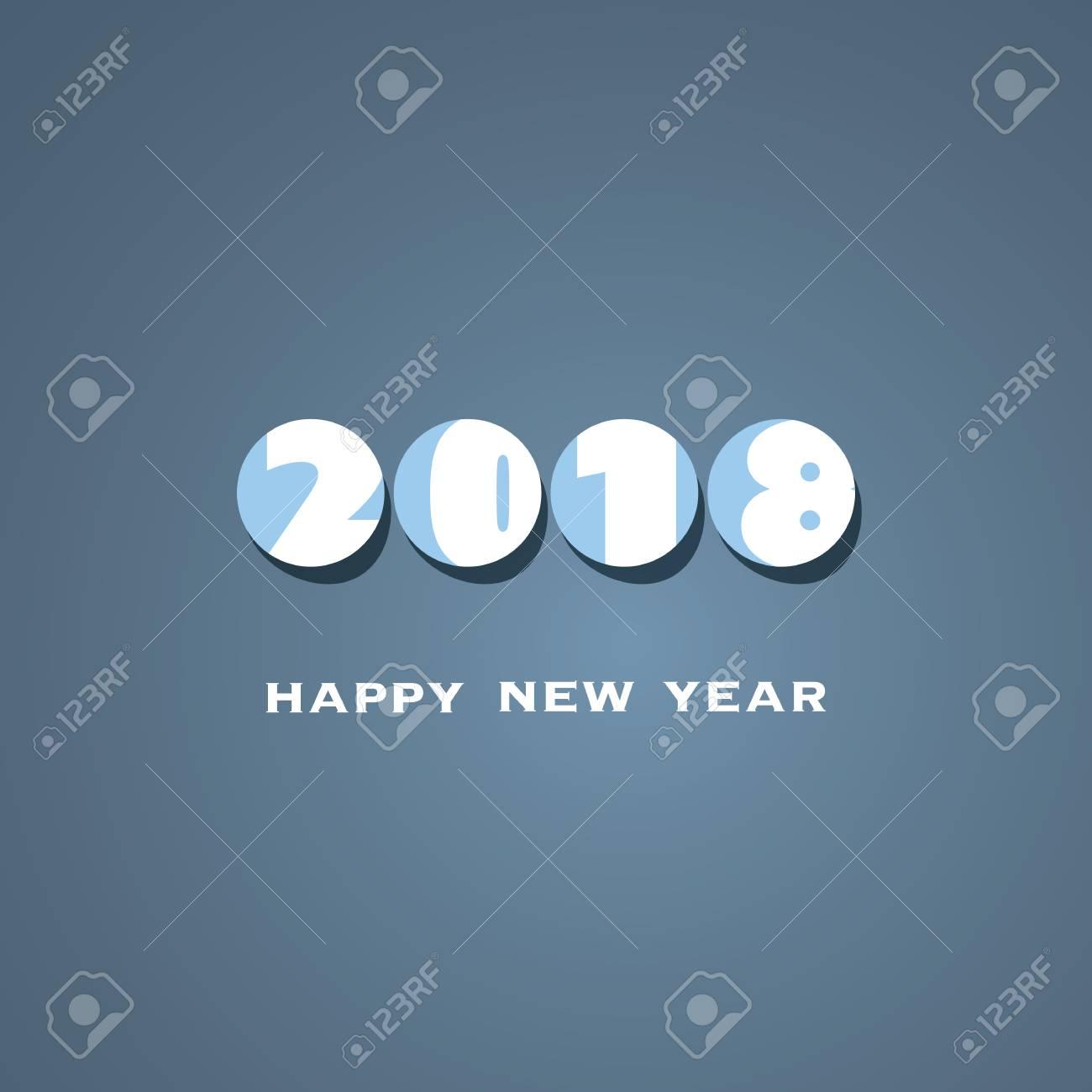 Foto de archivo - Plantilla de diseño de portada de tarjeta de año nuevo  simple 2018 4582616016002