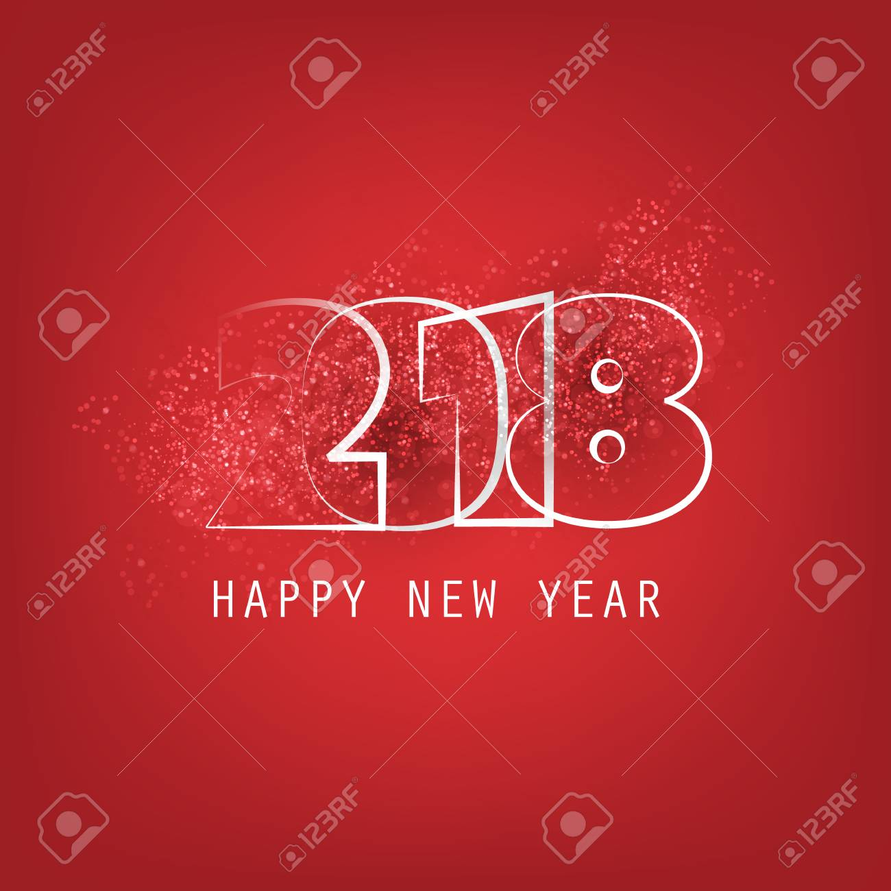 Best Wishes Abstract Modern Style Happy New Year Greeting Card