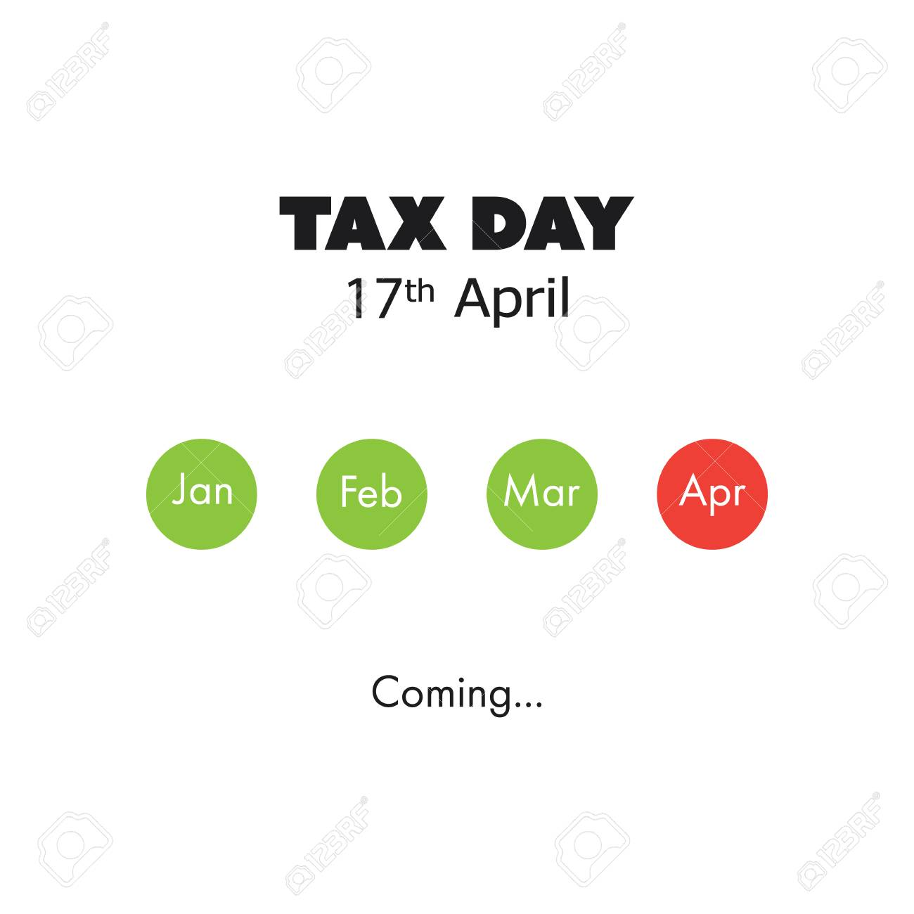 Llega El Día Del Impuesto, Plantilla De Diseño - Fecha Límite De ...