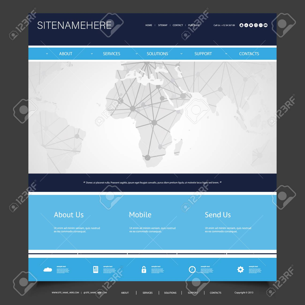 Global business connections computer networks website template global business connections computer networks website template design stock vector 95568929 accmission Image collections