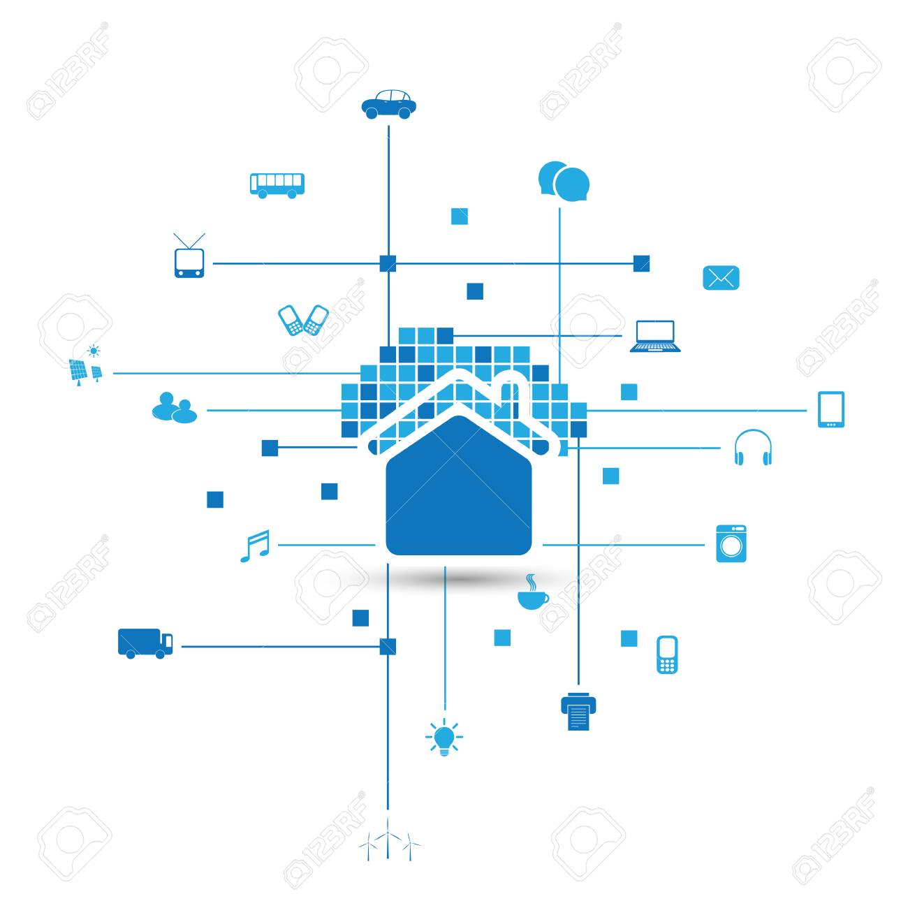 Cloud Computing Iot Home Automation Design Concept With Icons Royalty Free Cliparts Vectors And Stock Illustration Image 100998753