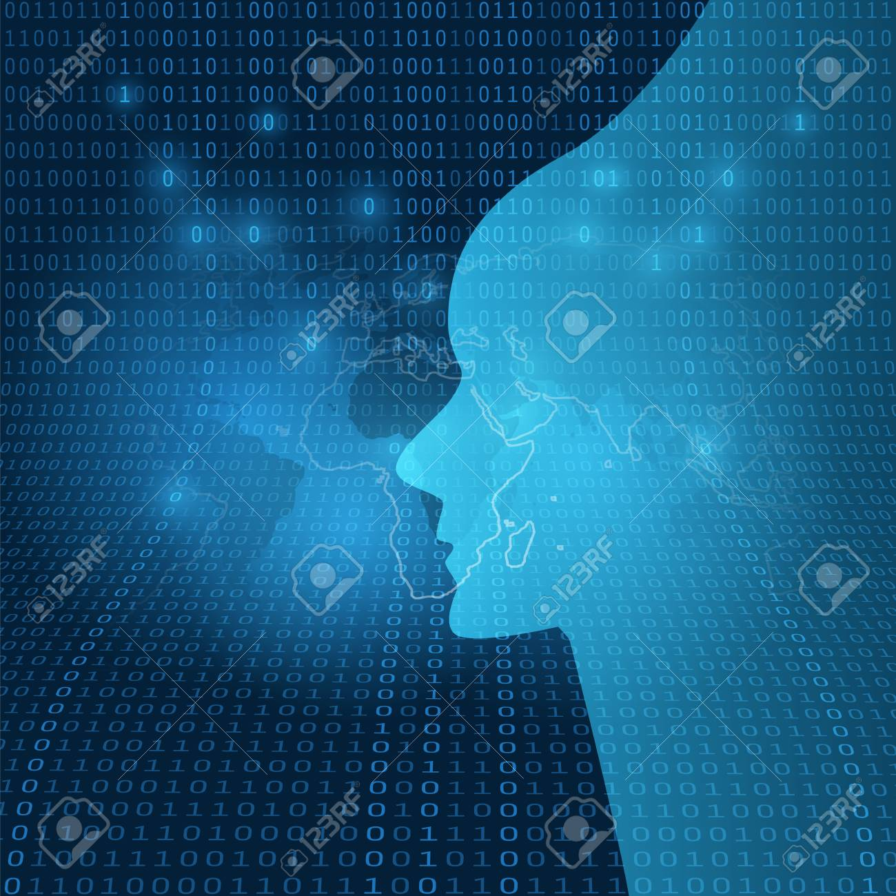 Dark Futuristic Machine Learning Artificial Intelligence Cloud