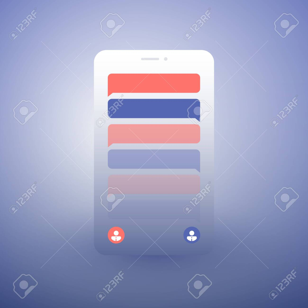 Abstract Chat App Design Concept Global Mobile Communication Royalty Free Cliparts Vectors And Stock Illustration Image 126288311